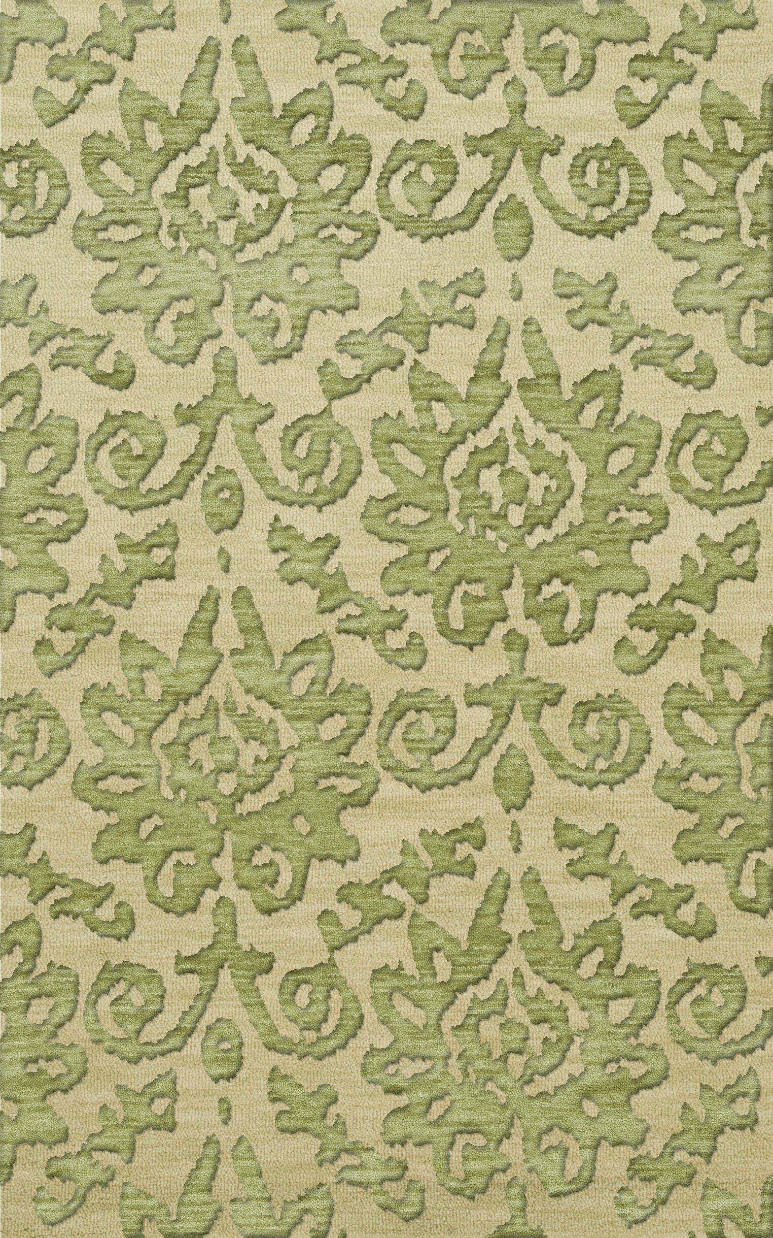 Bella Green Area Rug Rug Size: Rectangle 10' x 14'