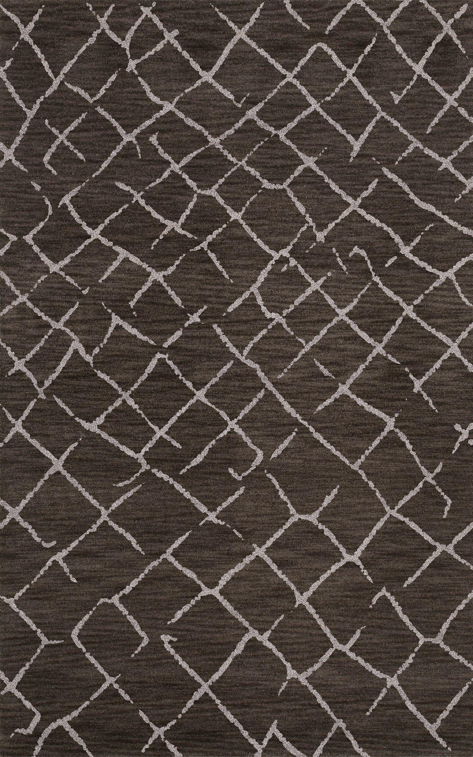 Bella Machine Woven Wool Gray Area Rug Rug Size: Rectangle 12' x 18'