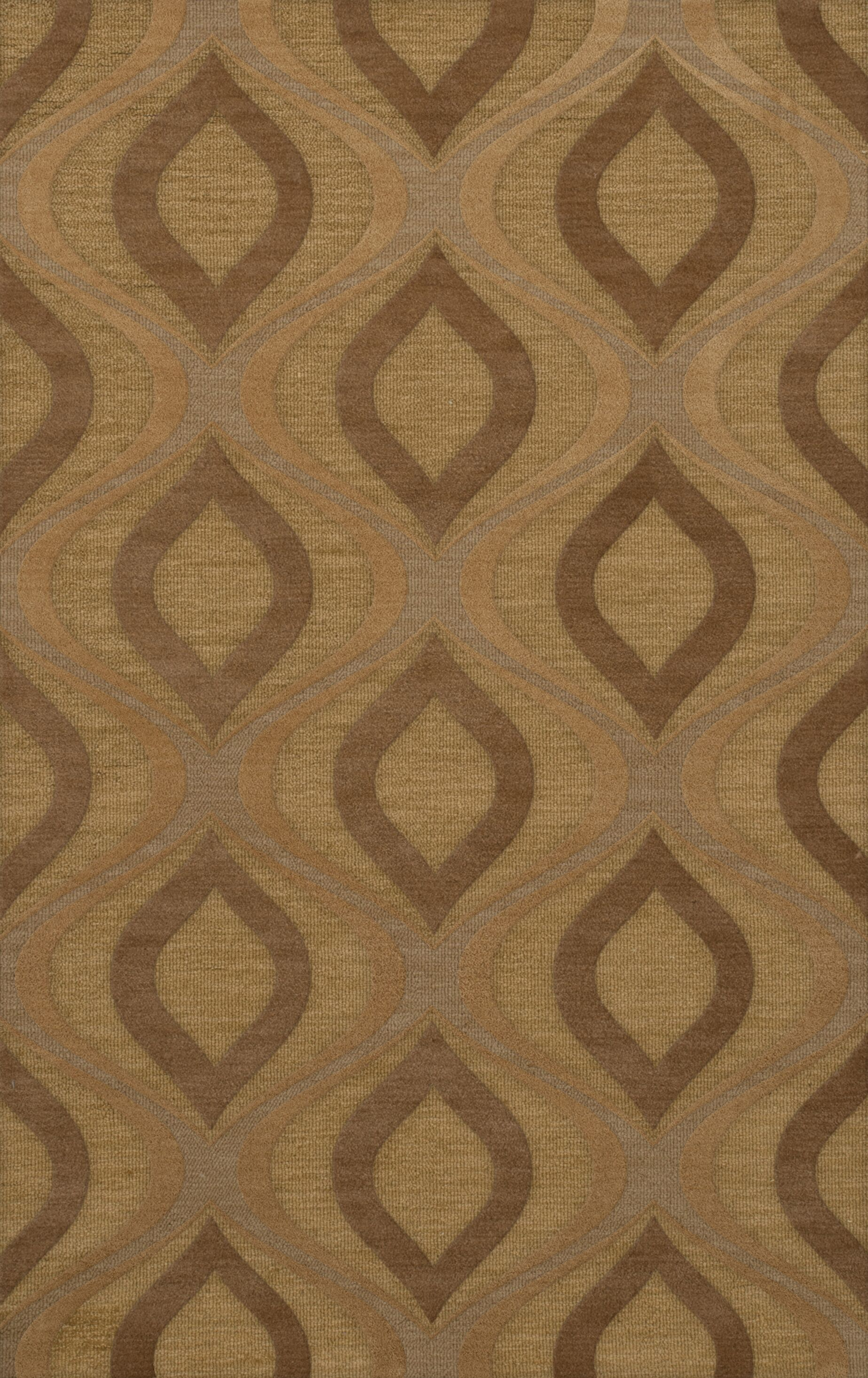 Sarahi Wool Amber Area Rug Rug Size: Rectangle 3' x 5'