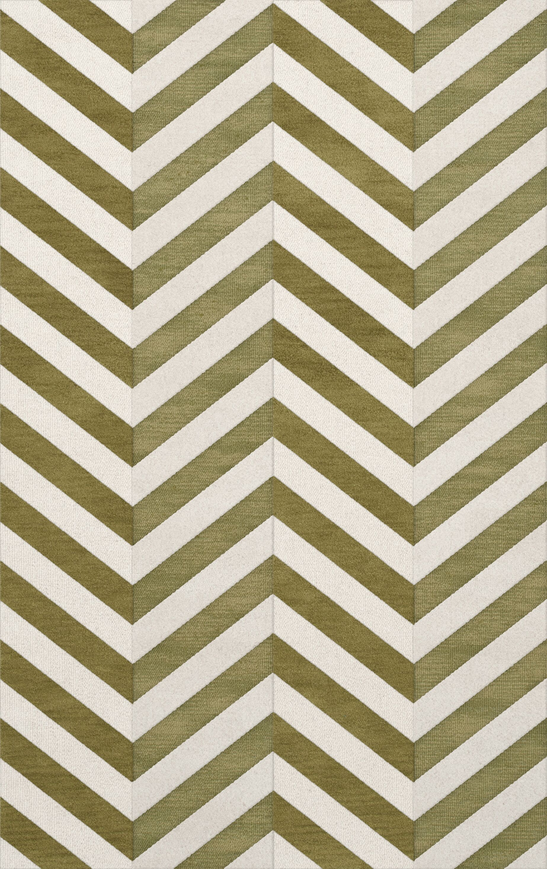 Shellenbarger Wool Herb/White Area Rug Rug Size: Rectangle 9' x 12'