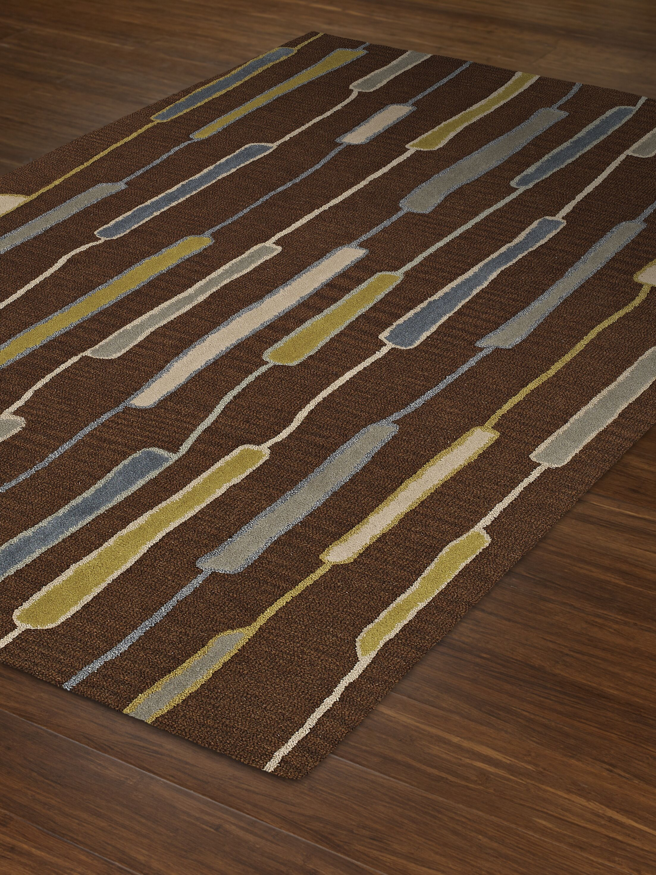 Ambiance Wool Chocolate Area Rug Rug Size: Rectangle 9' x 13'