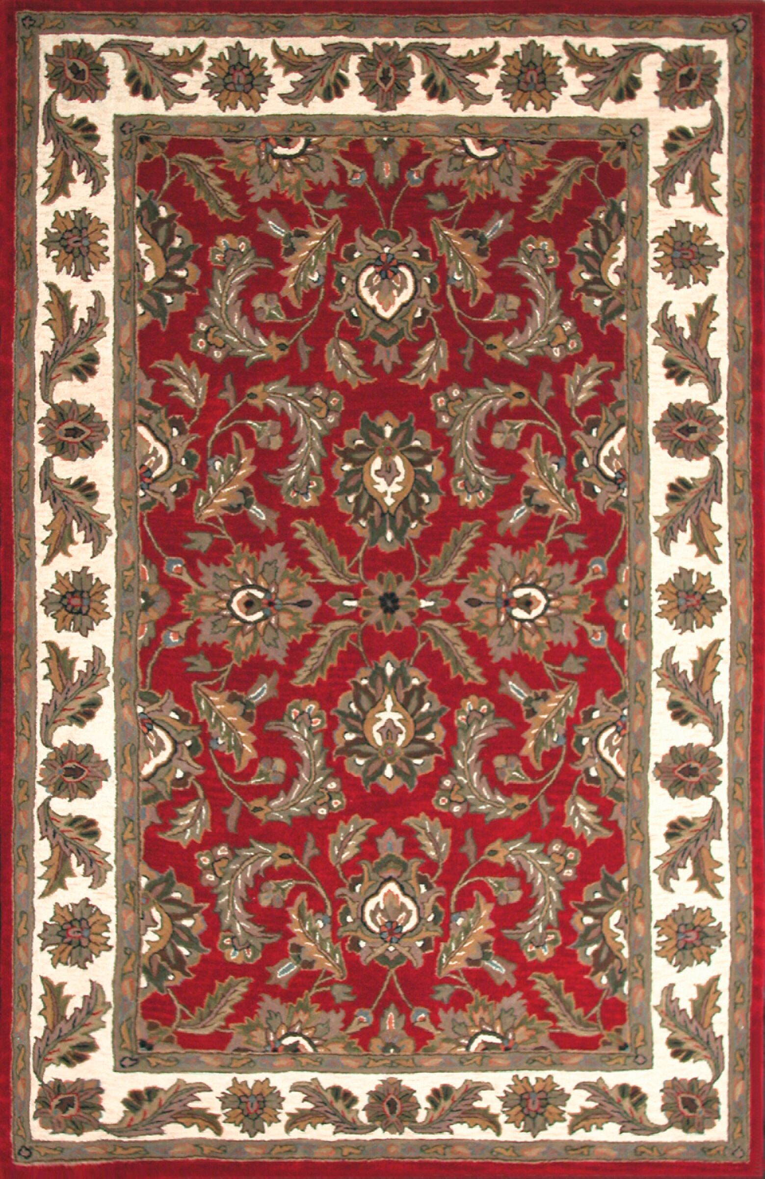 Bartonville Red Rug Rug Size: Rectangle 9'6