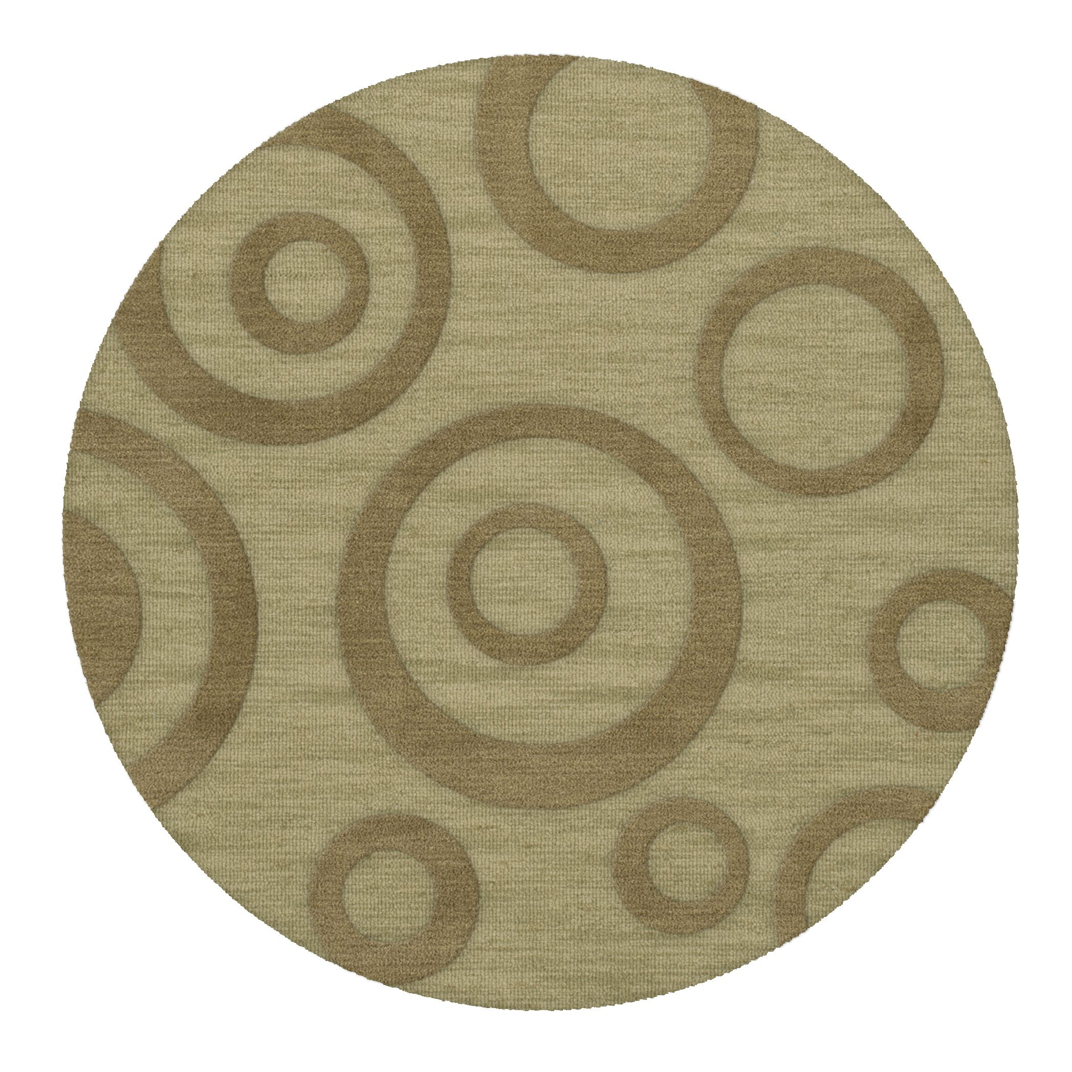 Dover Tufted Wool Marsh Area Rug Rug Size: Round 8'