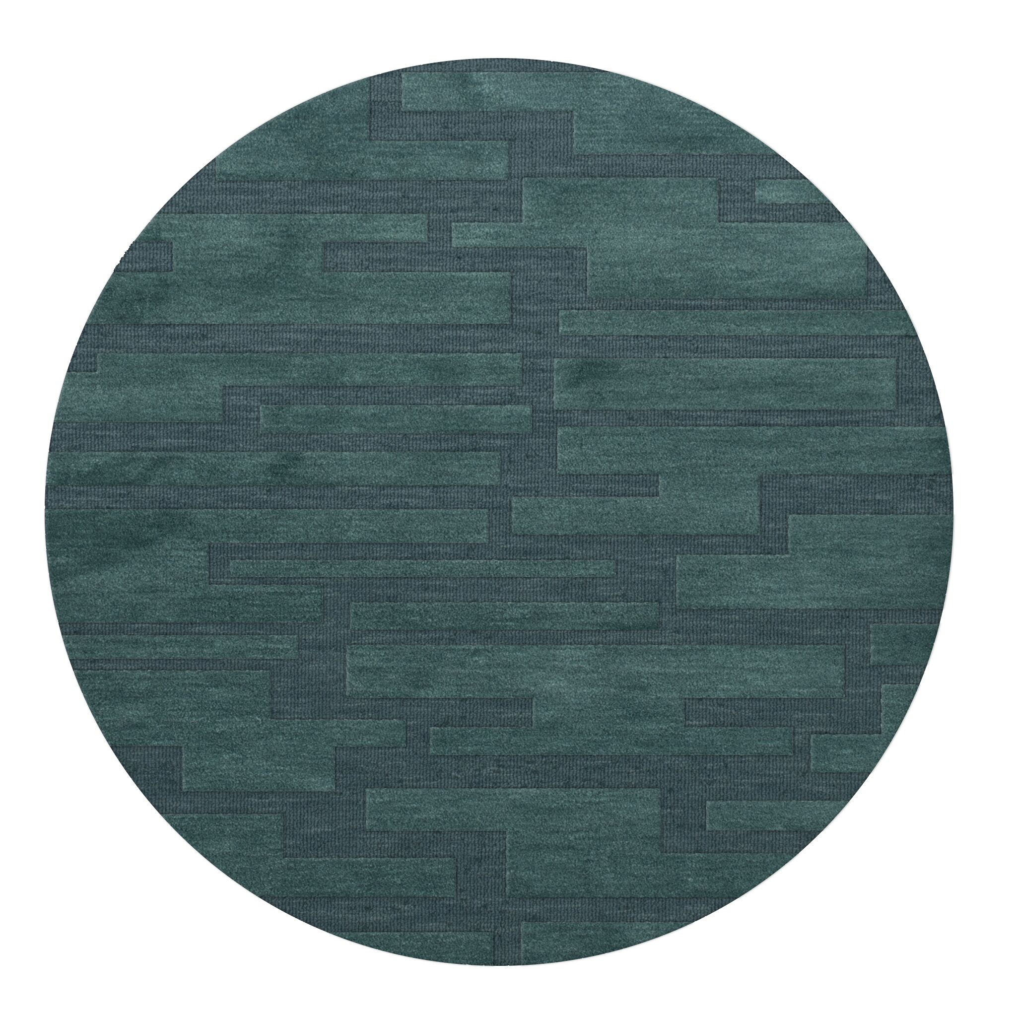 Dover Teal Area Rug Rug Size: Round 12'