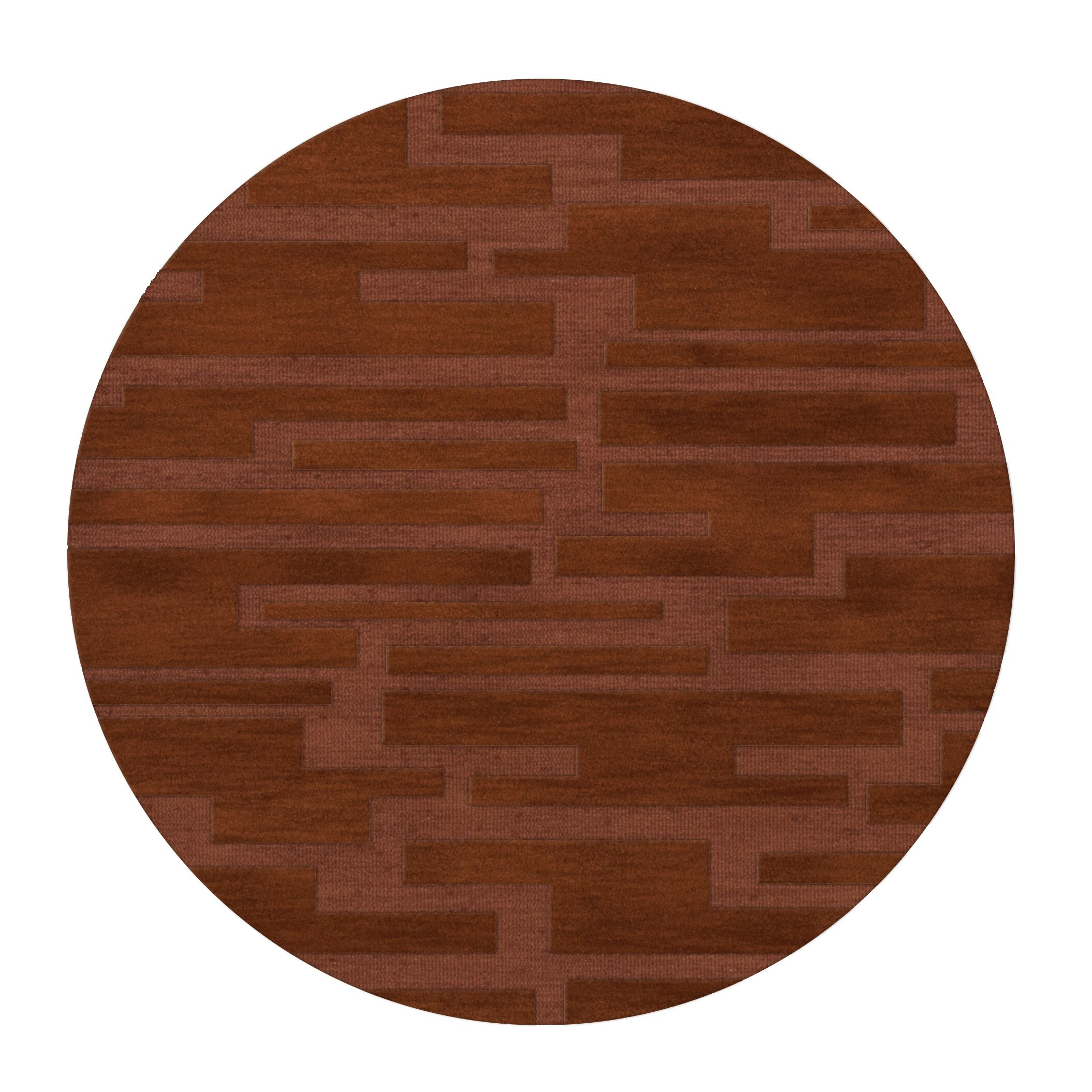 Dover Spice Area Rug Rug Size: Round 4'