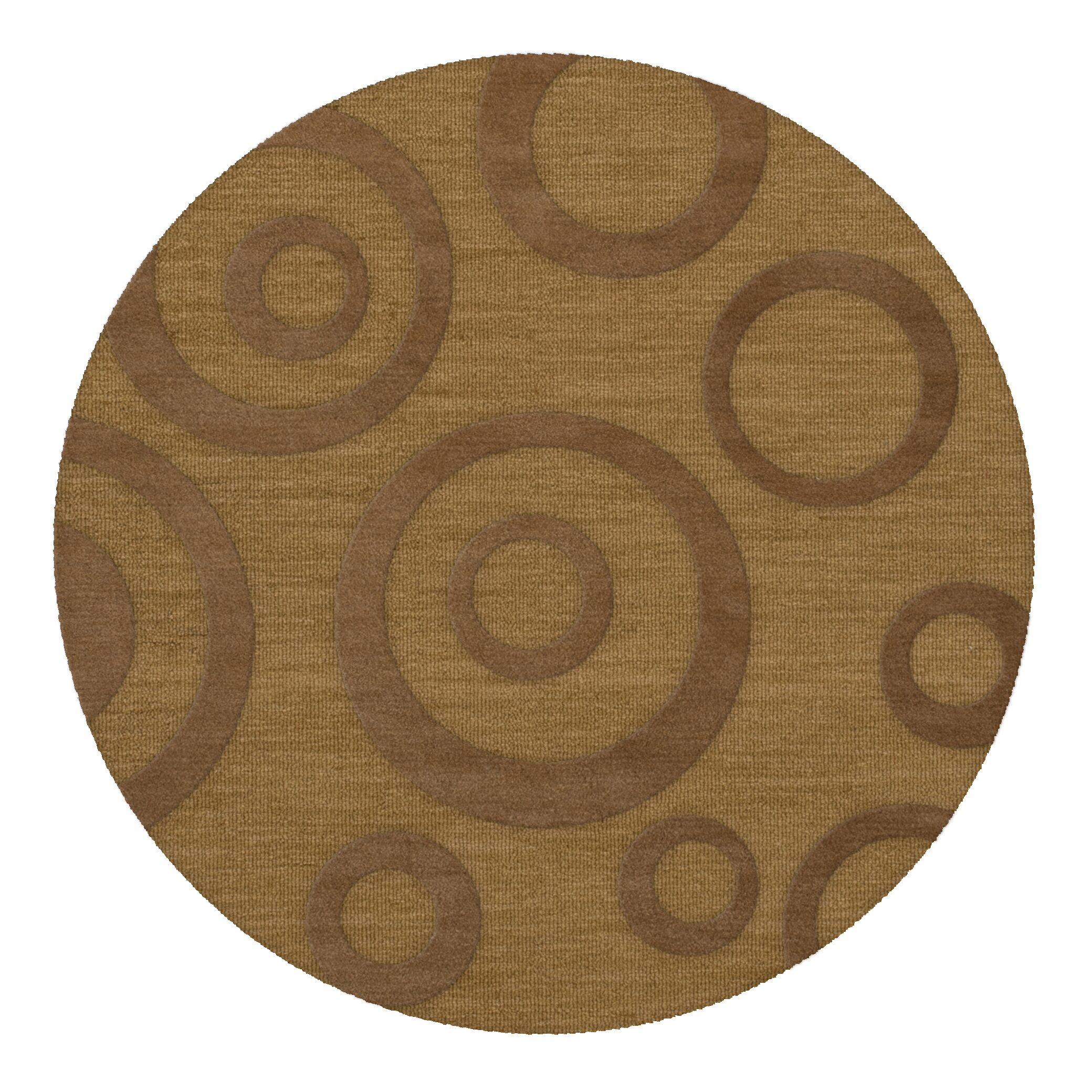 Dover Tufted Wool Gold Dust Area Rug Rug Size: Round 8'