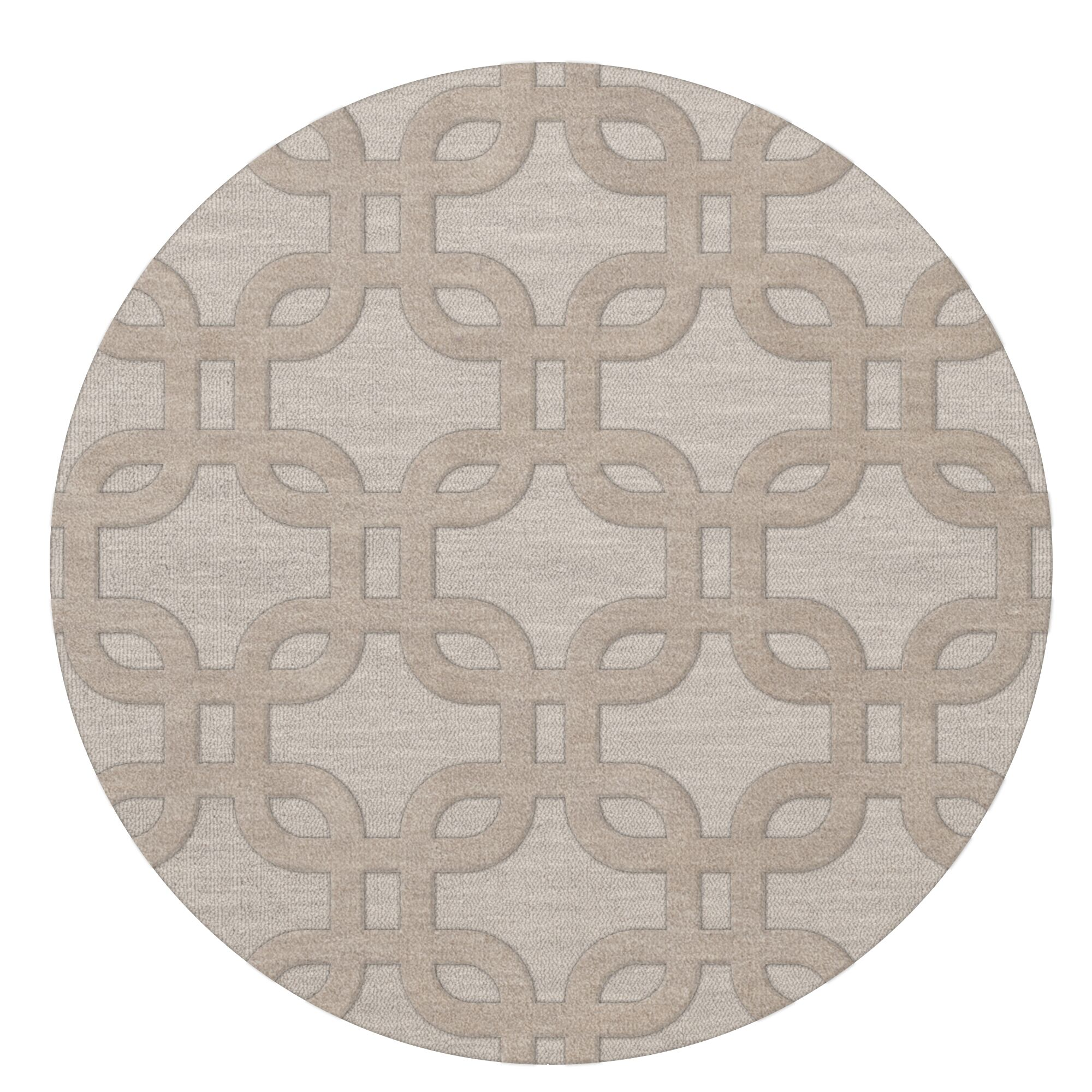 Dover Putty Area Rug Rug Size: Round 8'