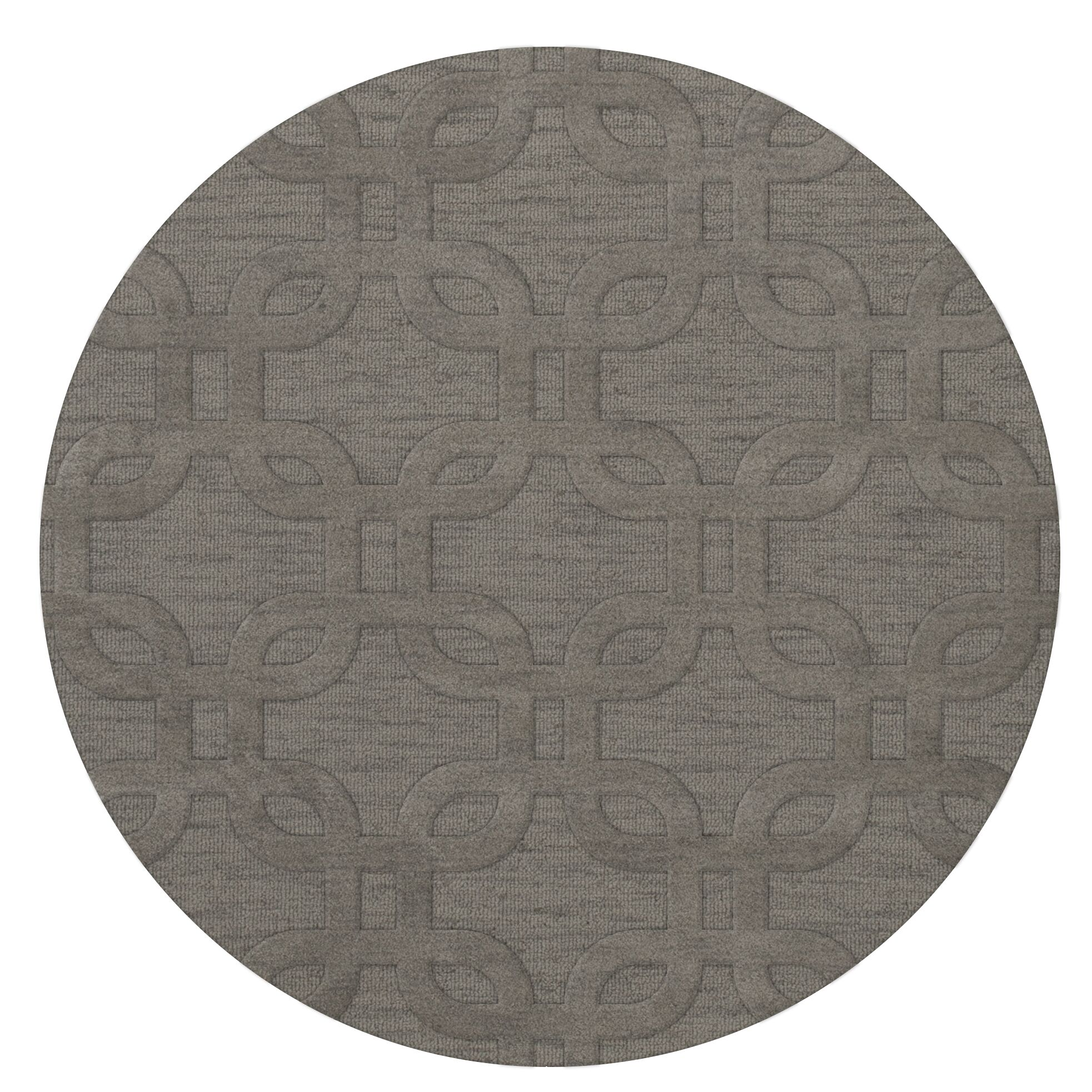 Dover Silver Area Rug Rug Size: Round 8'