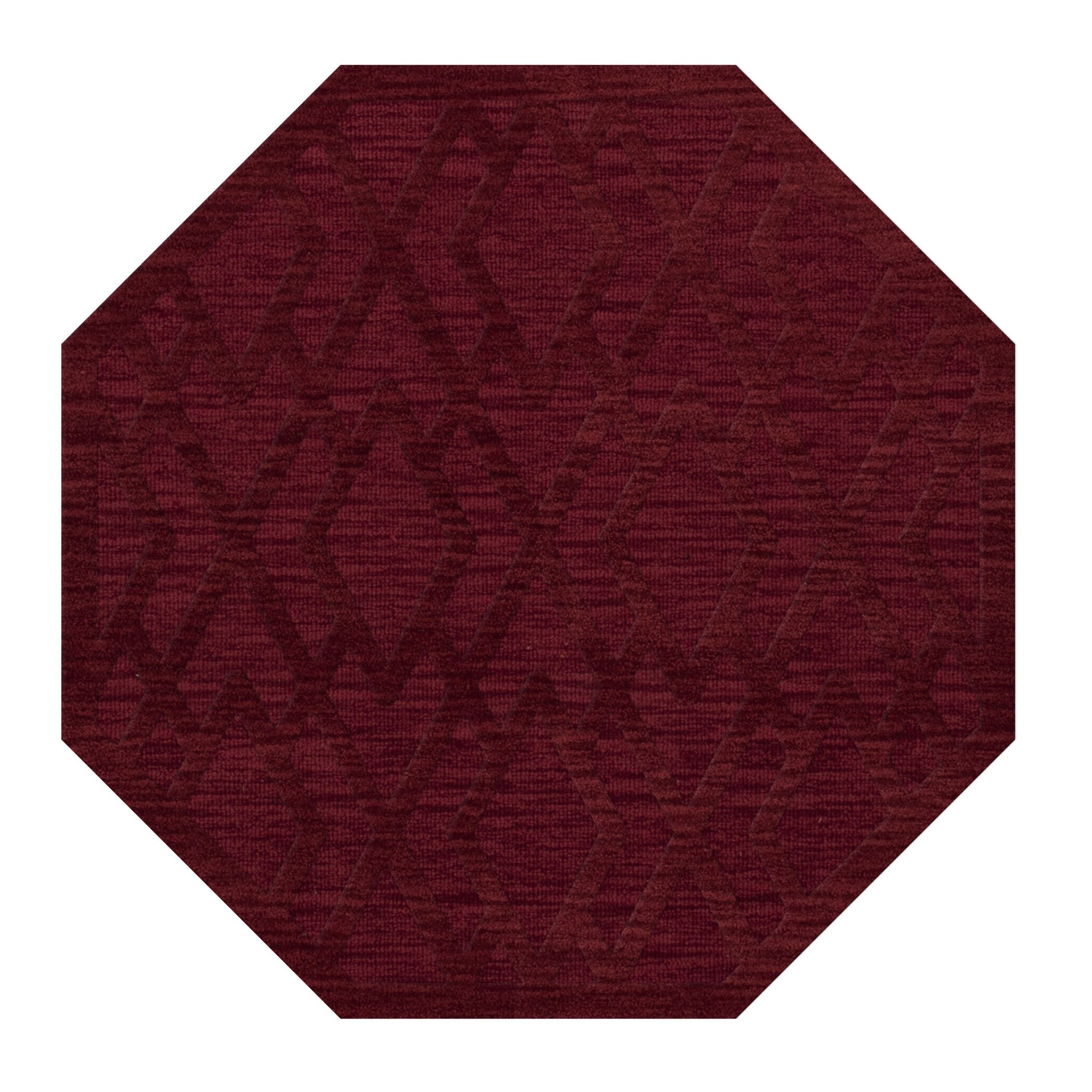 Dover Tufted Wool Rich Red Area Rug Rug Size: Octagon 6'