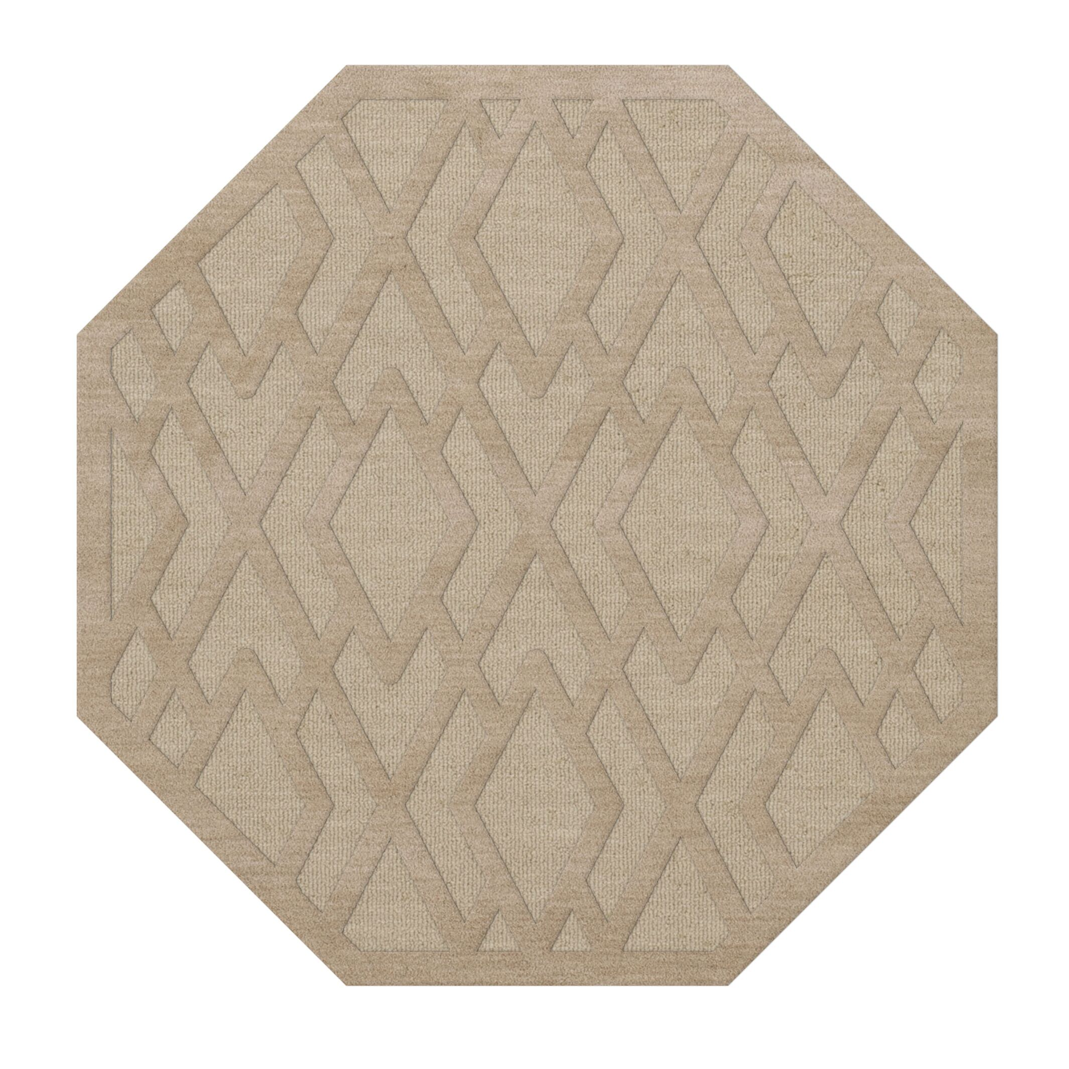 Dover Tufted Wool Linen Area Rug Rug Size: Octagon 8'