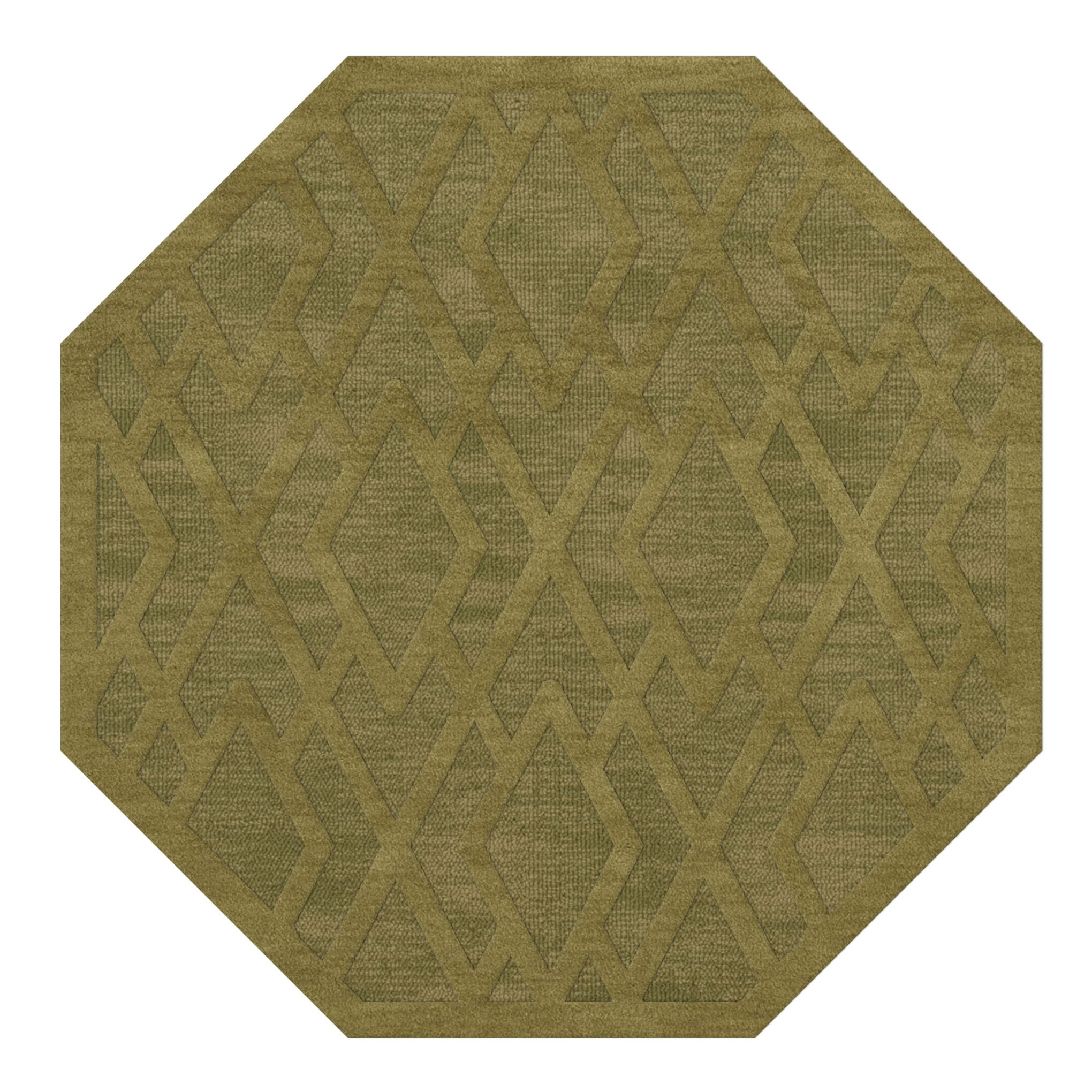 Dover Tufted Wool Pear Area Rug Rug Size: Octagon 12'