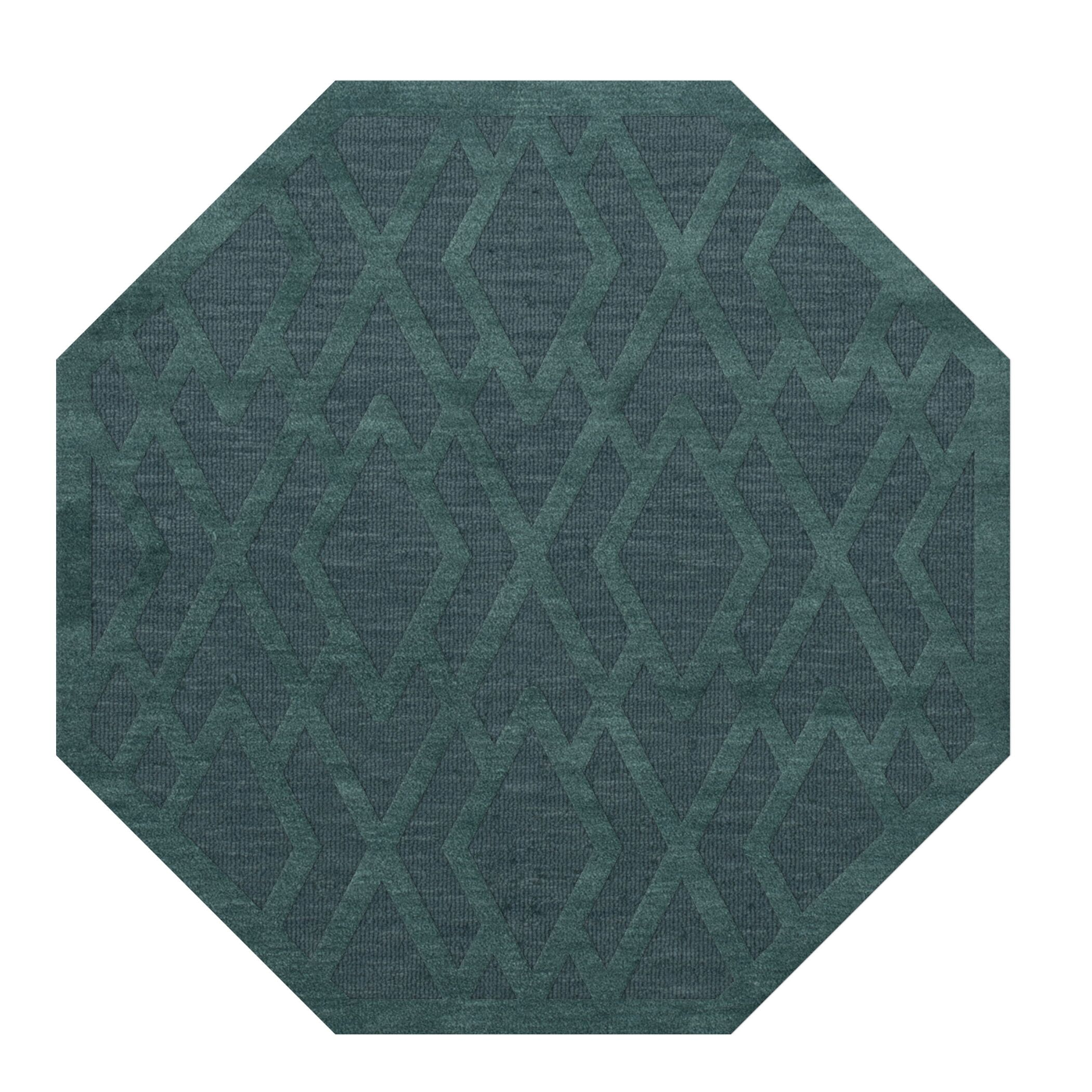 Dover Teal Area Rug Rug Size: Octagon 12'