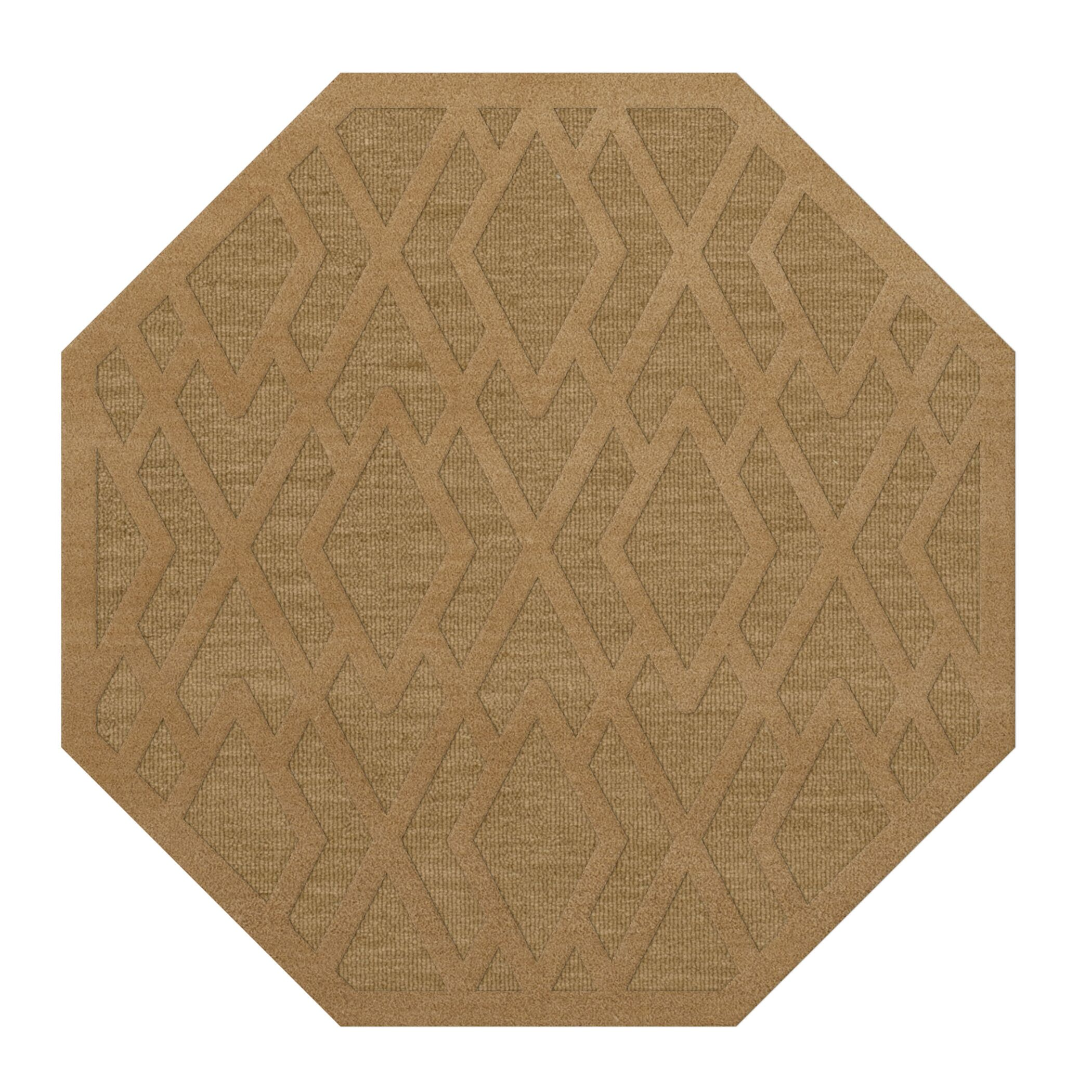 Dover Tufted Wool Wheat Area Rug Rug Size: Octagon 4'