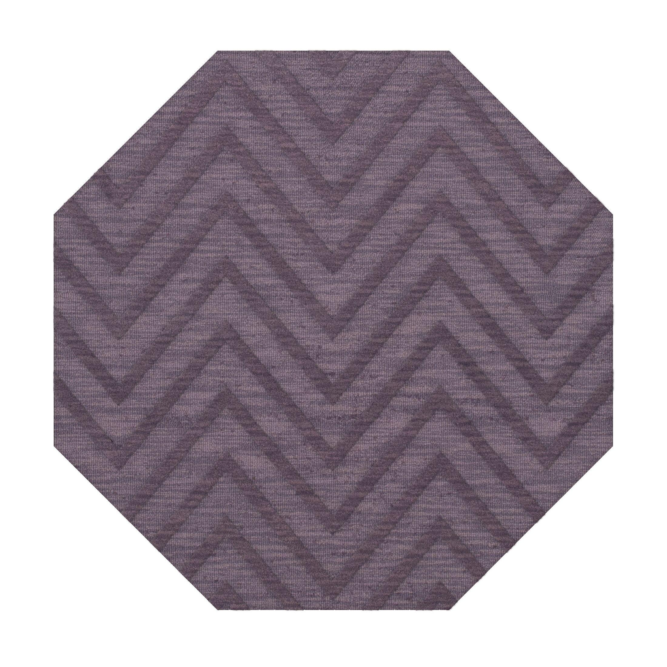 Dover Viola Area Rug Rug Size: Octagon 6'
