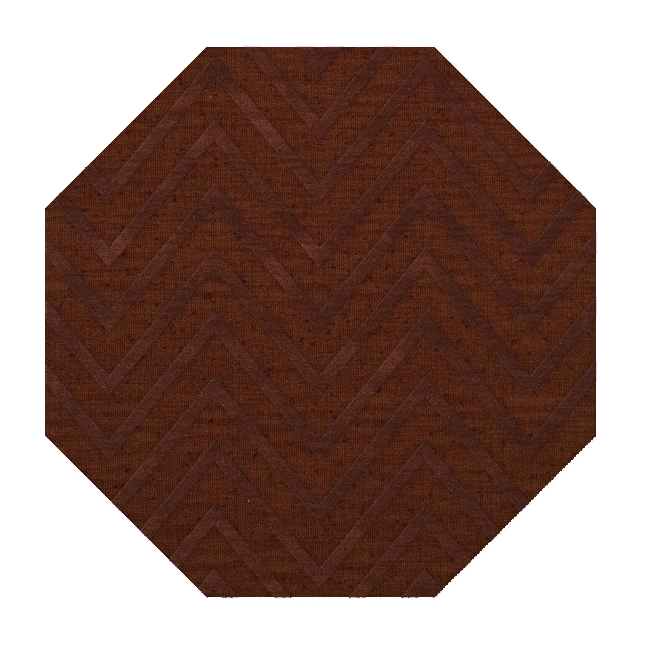 Dover Tufted Wool Paprika Area Rug Rug Size: Octagon 4'