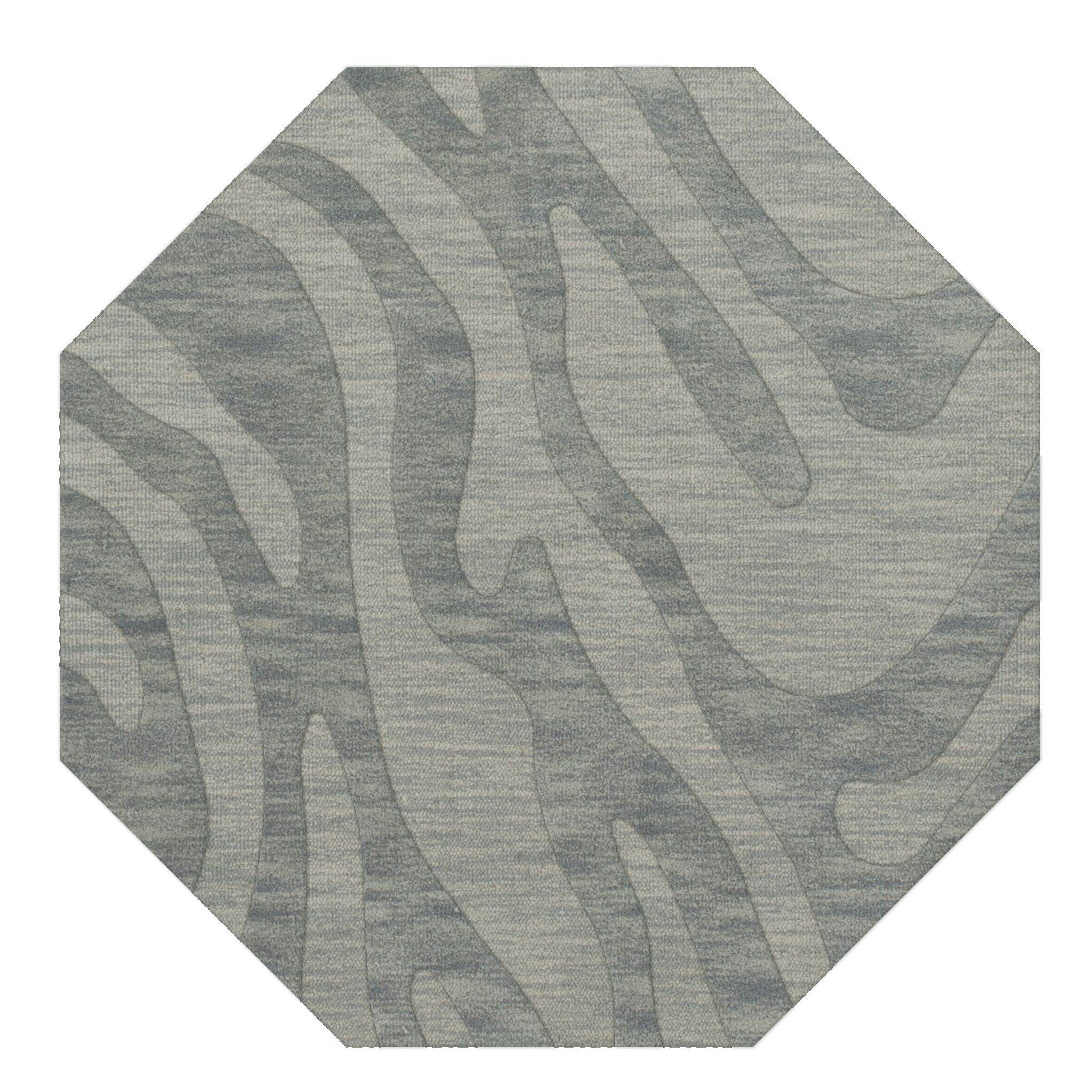 Dover Sea Glass Area Rug Rug Size: Octagon 12'