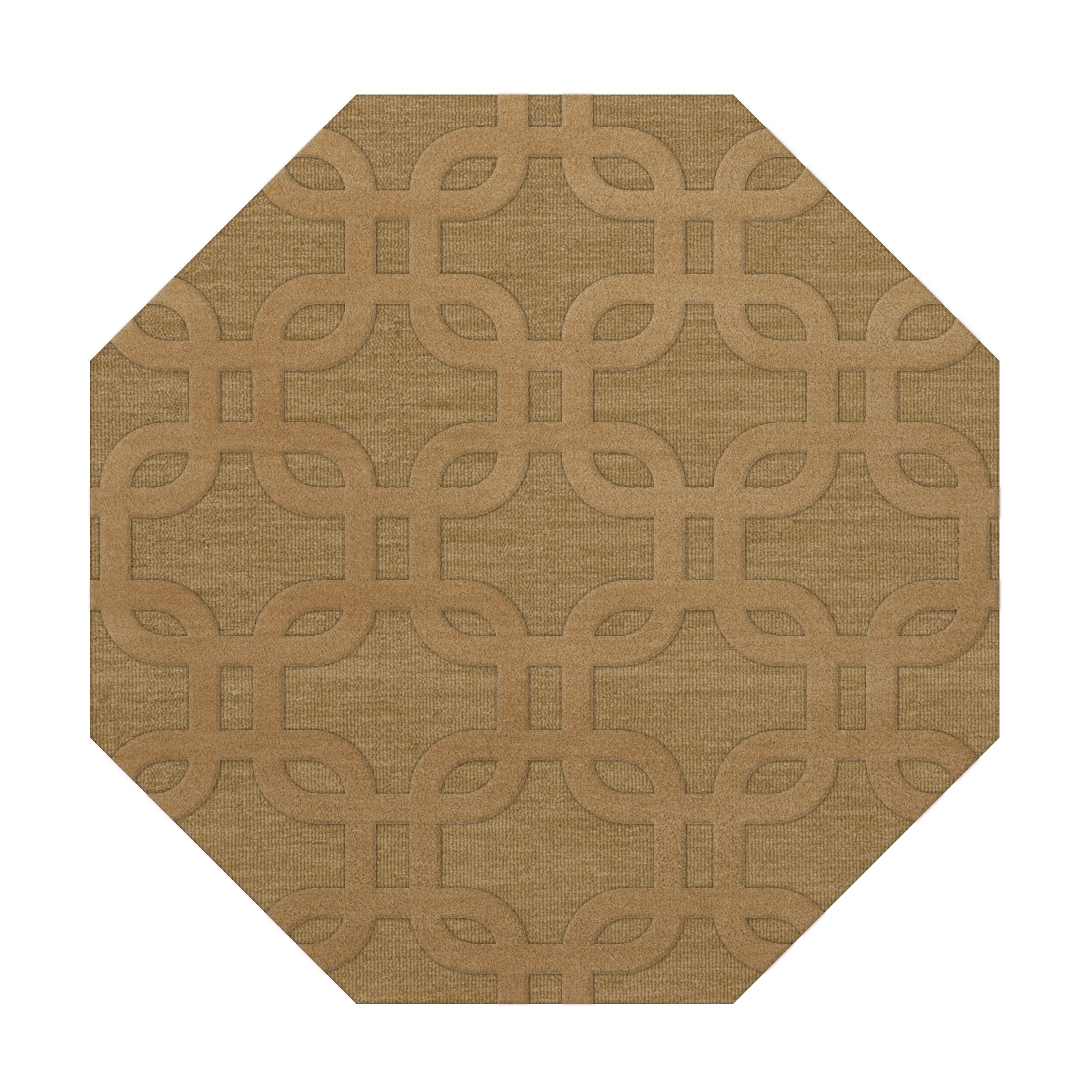 Dover Wheat Area Rug Rug Size: Octagon 10'