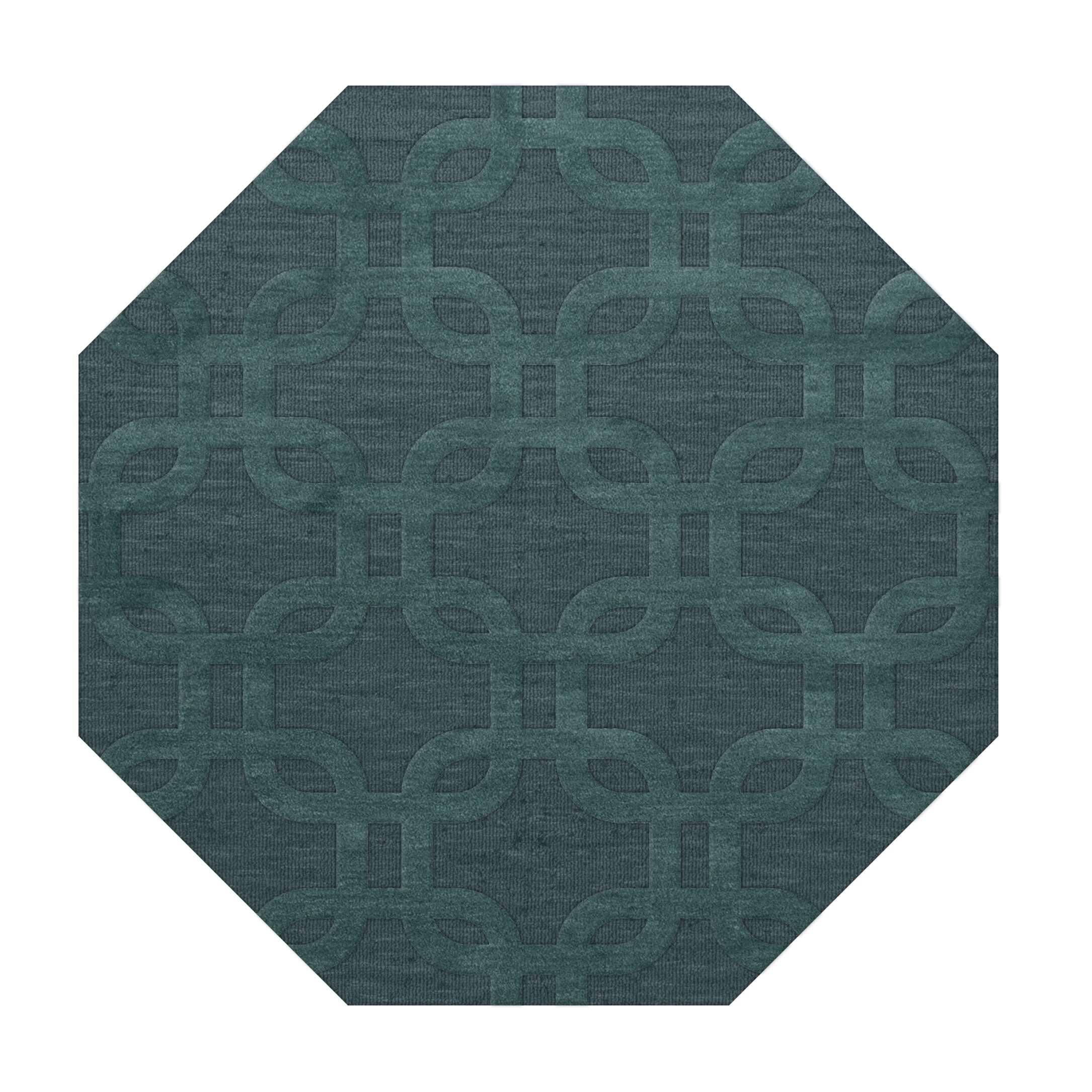 Dover Teal Area Rug Rug Size: Octagon 8'
