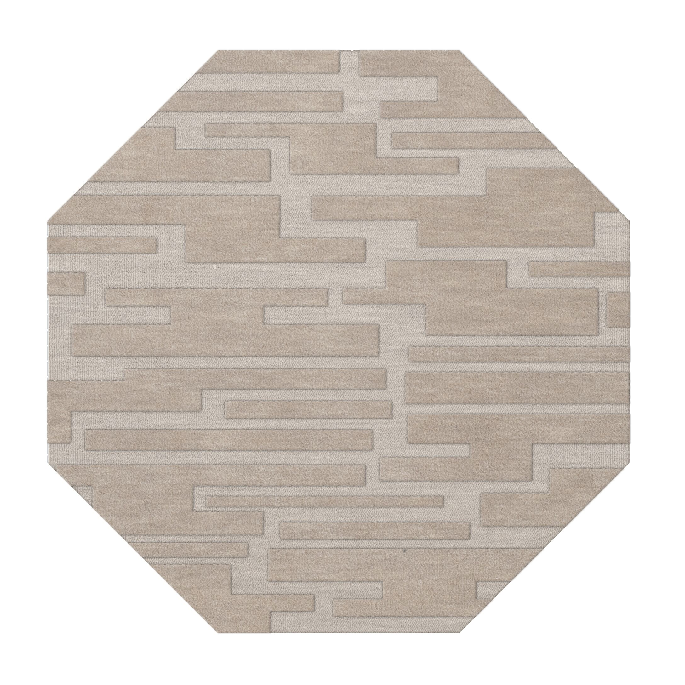 Dover Putty Area Rug Rug Size: Octagon 4'