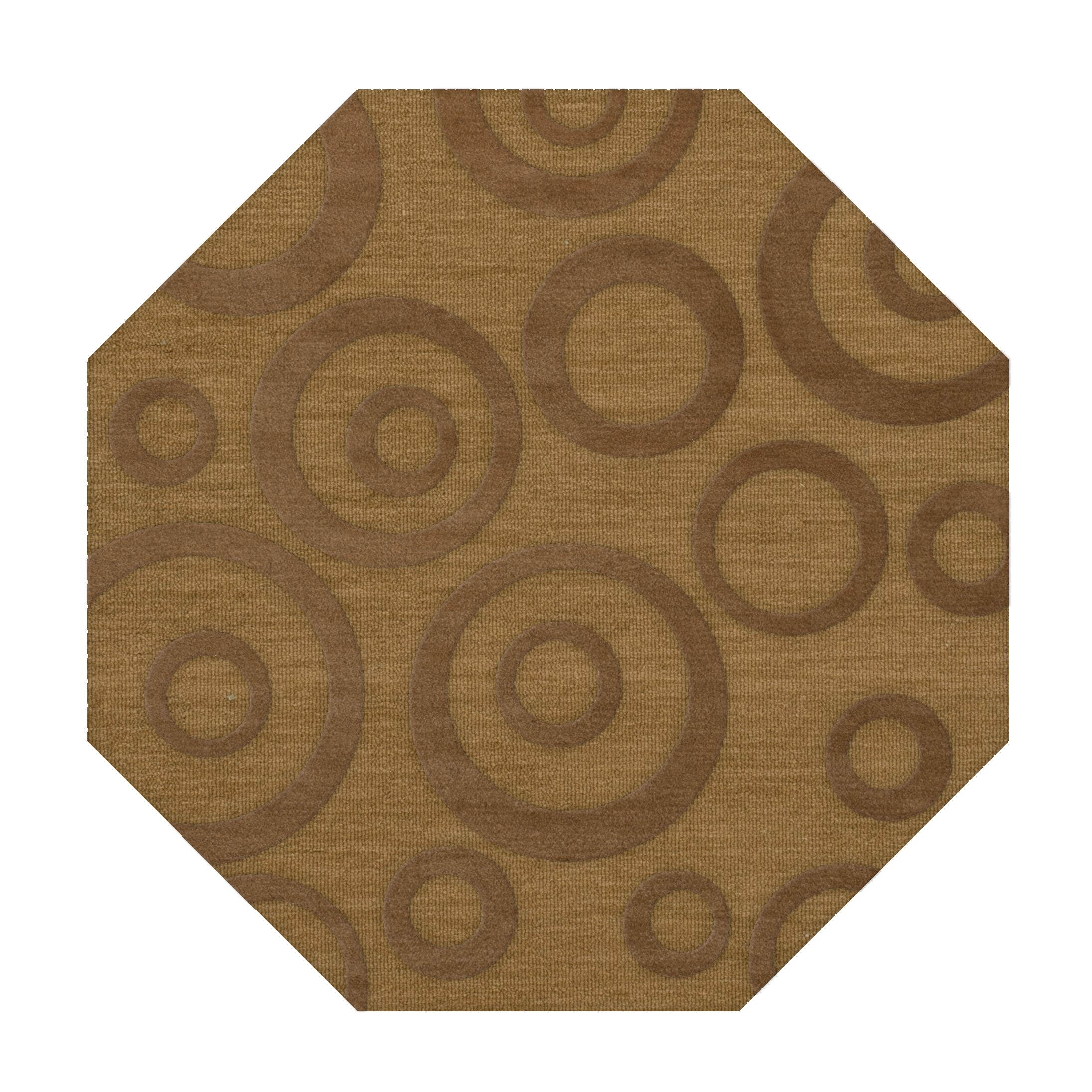 Dover Tufted Wool Gold Dust Area Rug Rug Size: Octagon 8'