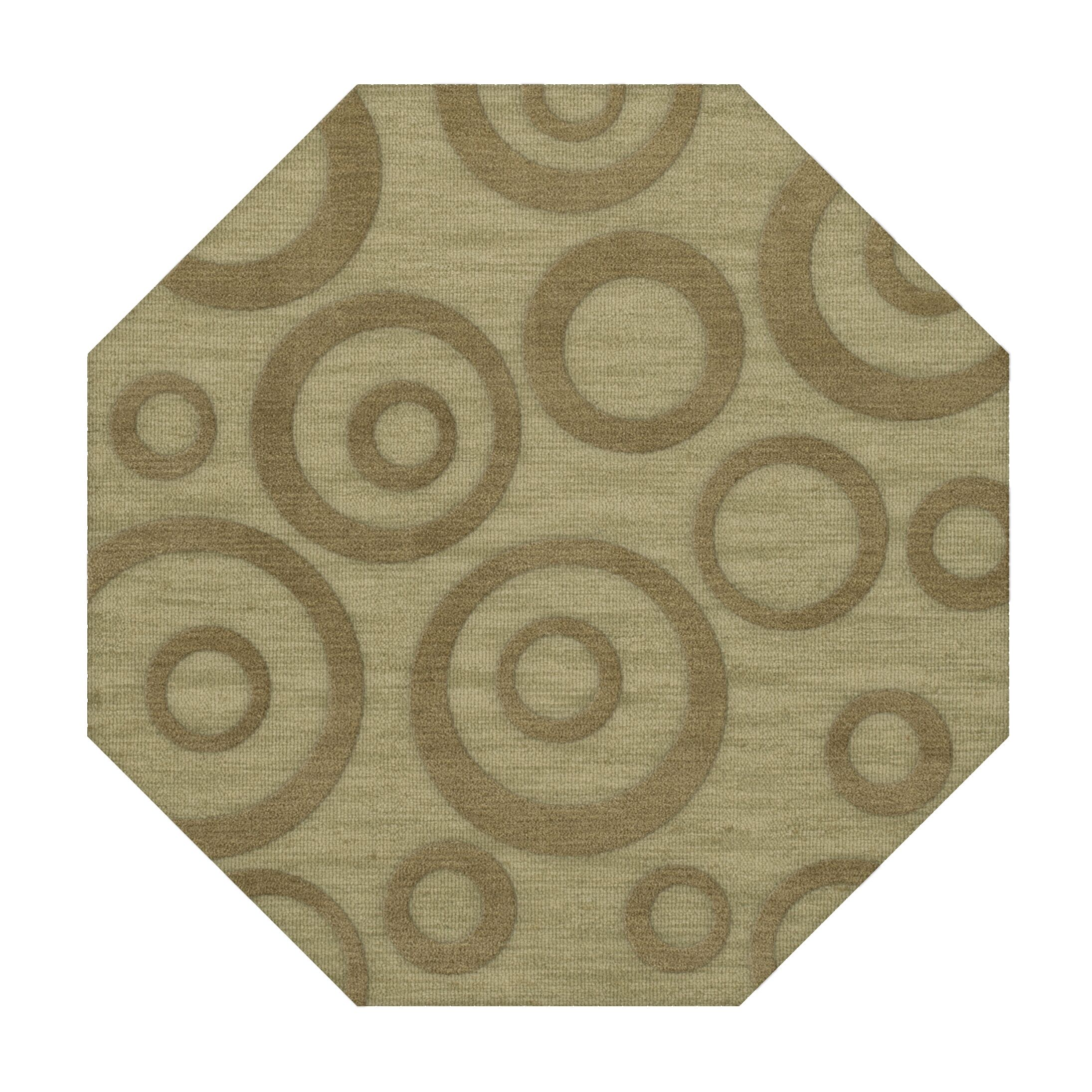 Dover Tufted Wool Marsh Area Rug Rug Size: Octagon 6'