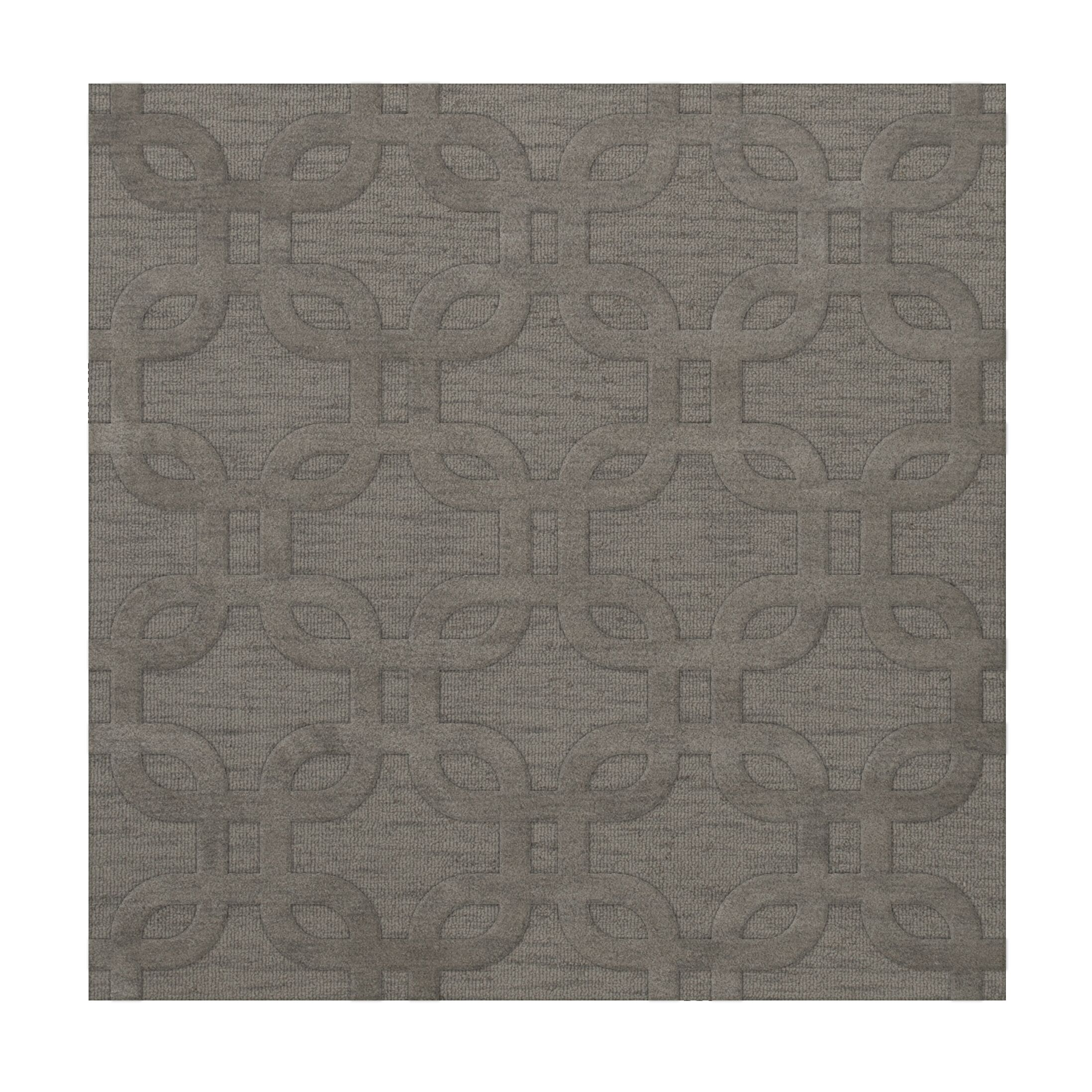Dover Silver Area Rug Rug Size: Square 10'