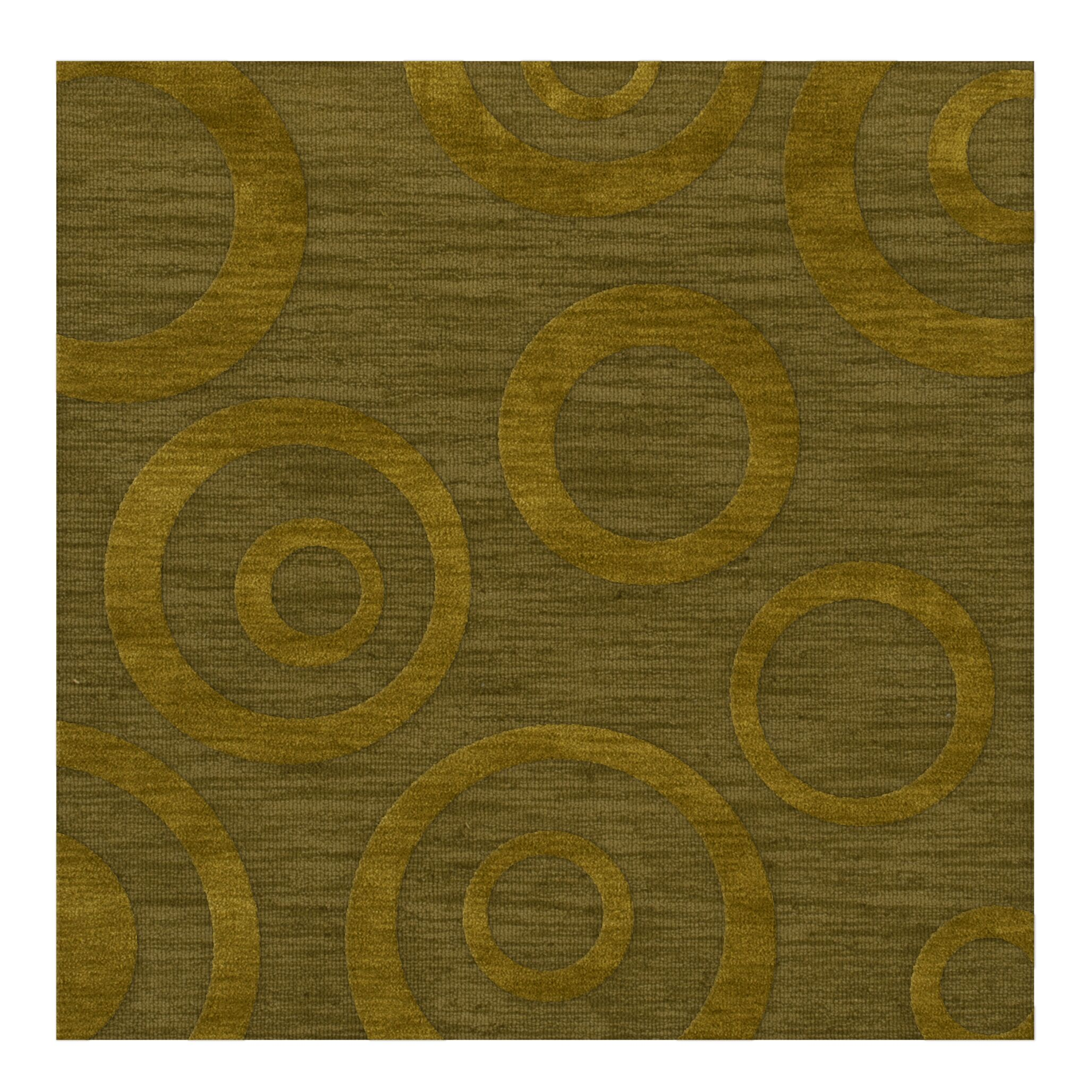Dover Tufted Wool Avocado Area Rug Rug Size: Square 8'