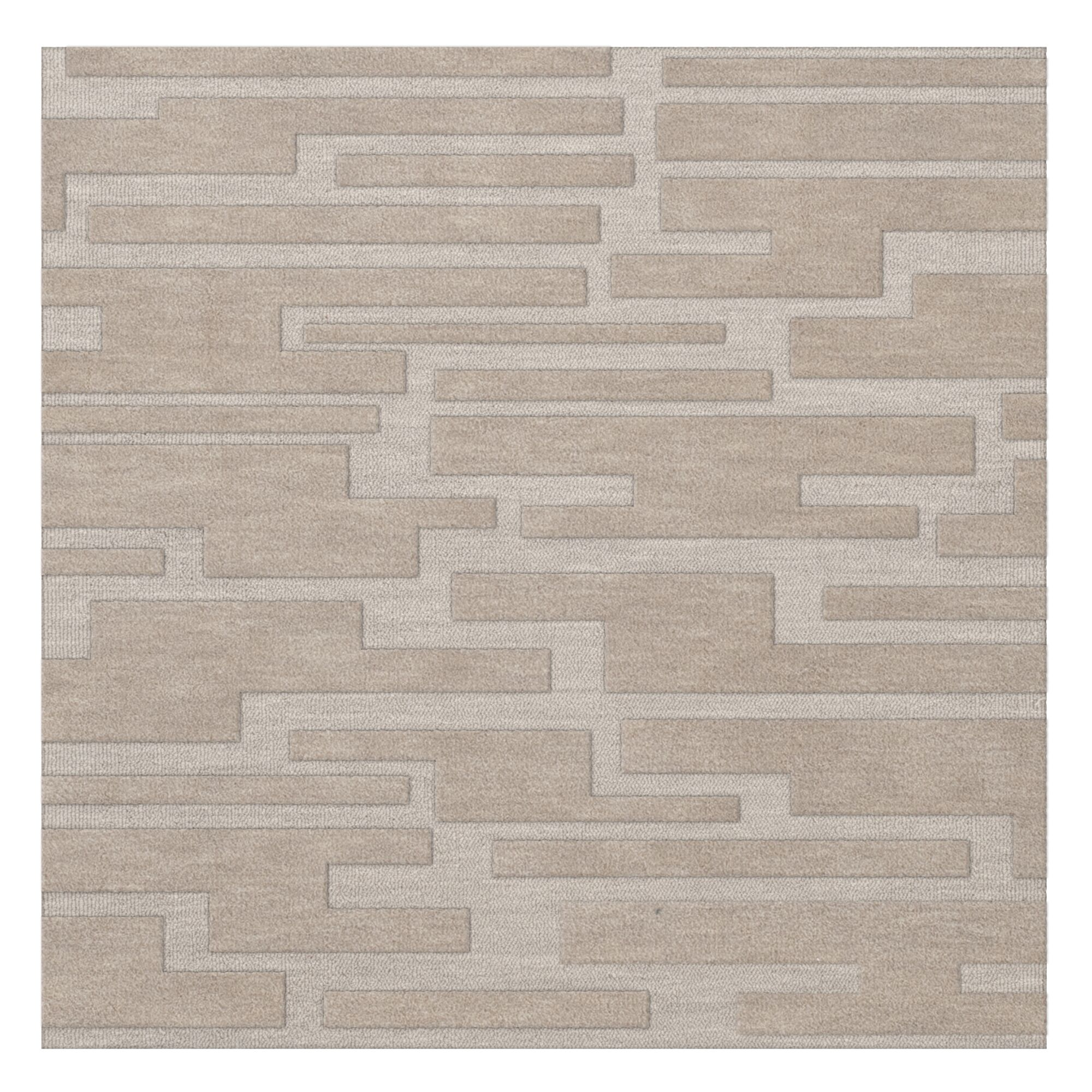 Dover Putty Area Rug Rug Size: Square 6'