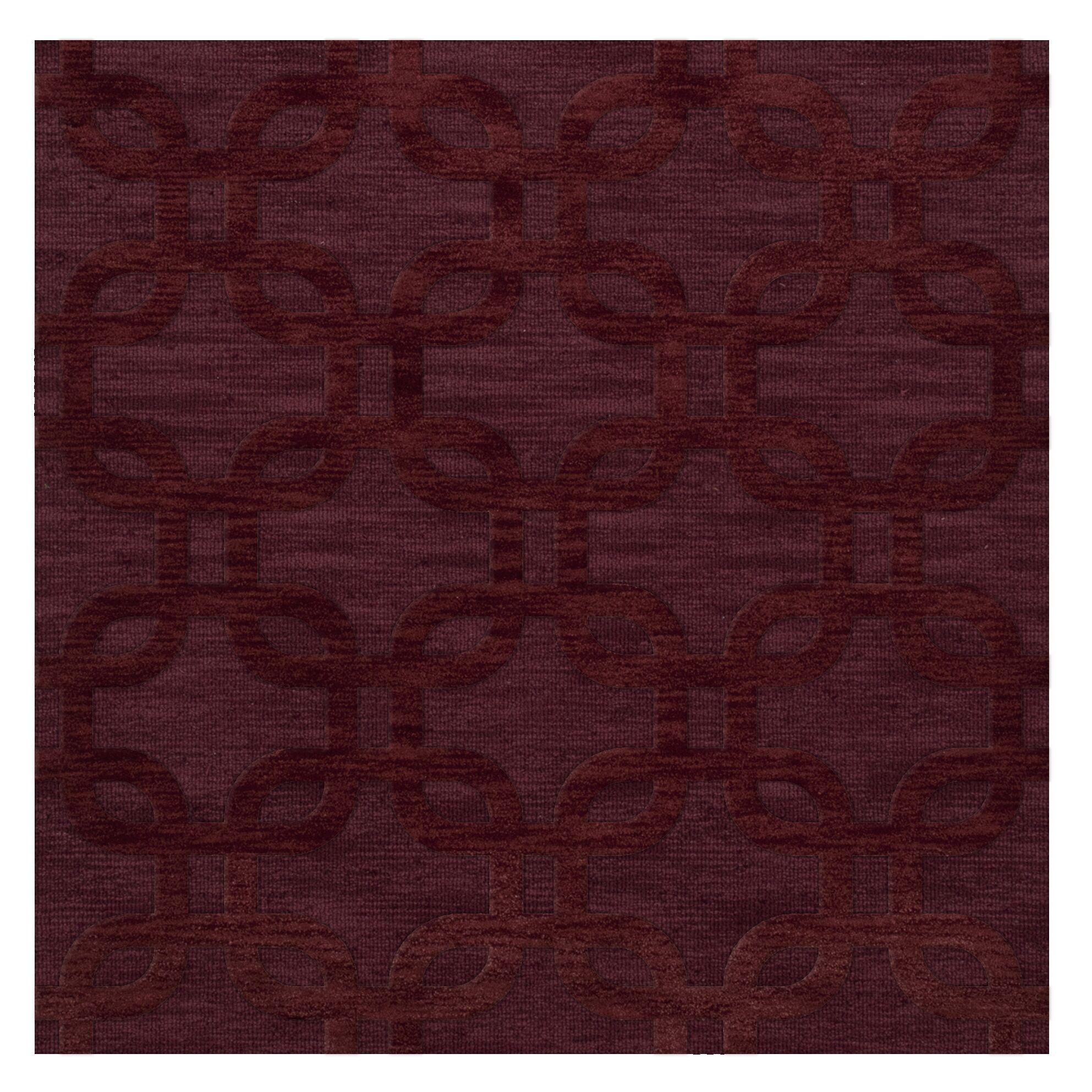 Dover Burgundy Area Rug Rug Size: Square 8'