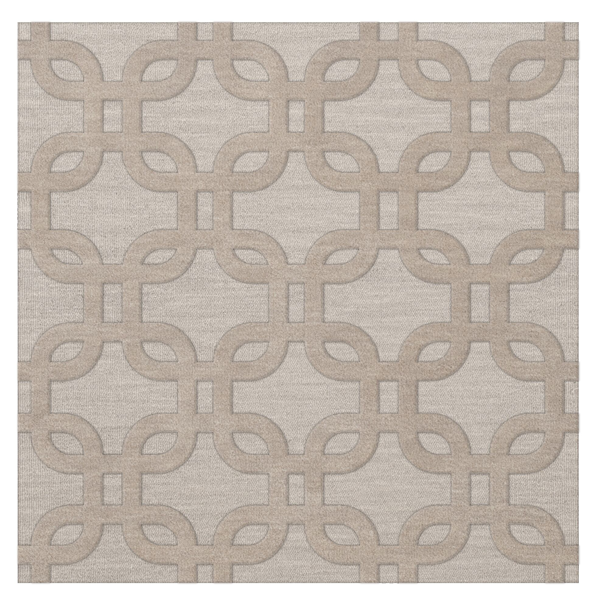 Dover Putty Area Rug Rug Size: Square 8'