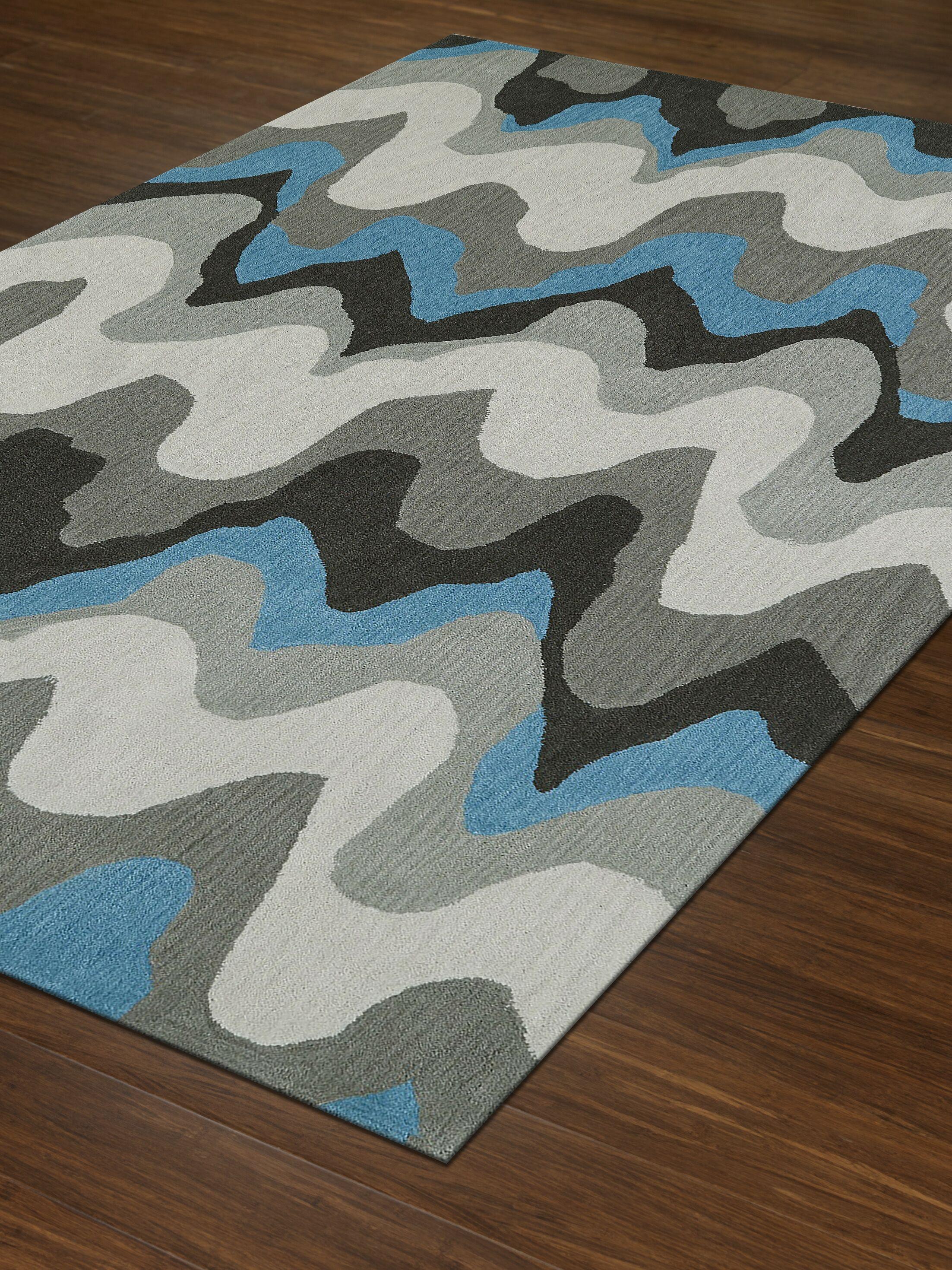 Aloft Silver/Blue Area Rug Rug Size: Rectangle 9' x 13'
