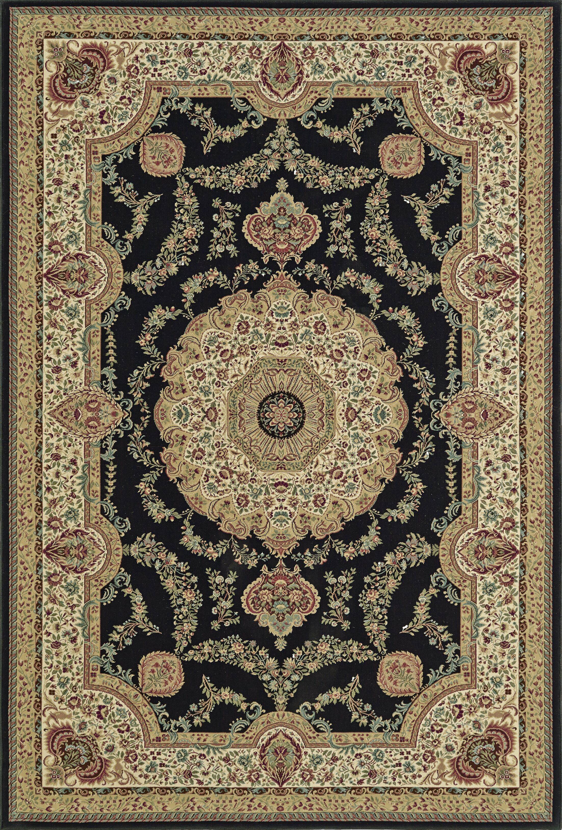 Malta Dalyn Black Area Rug Rug Size: Rectangle 3'3