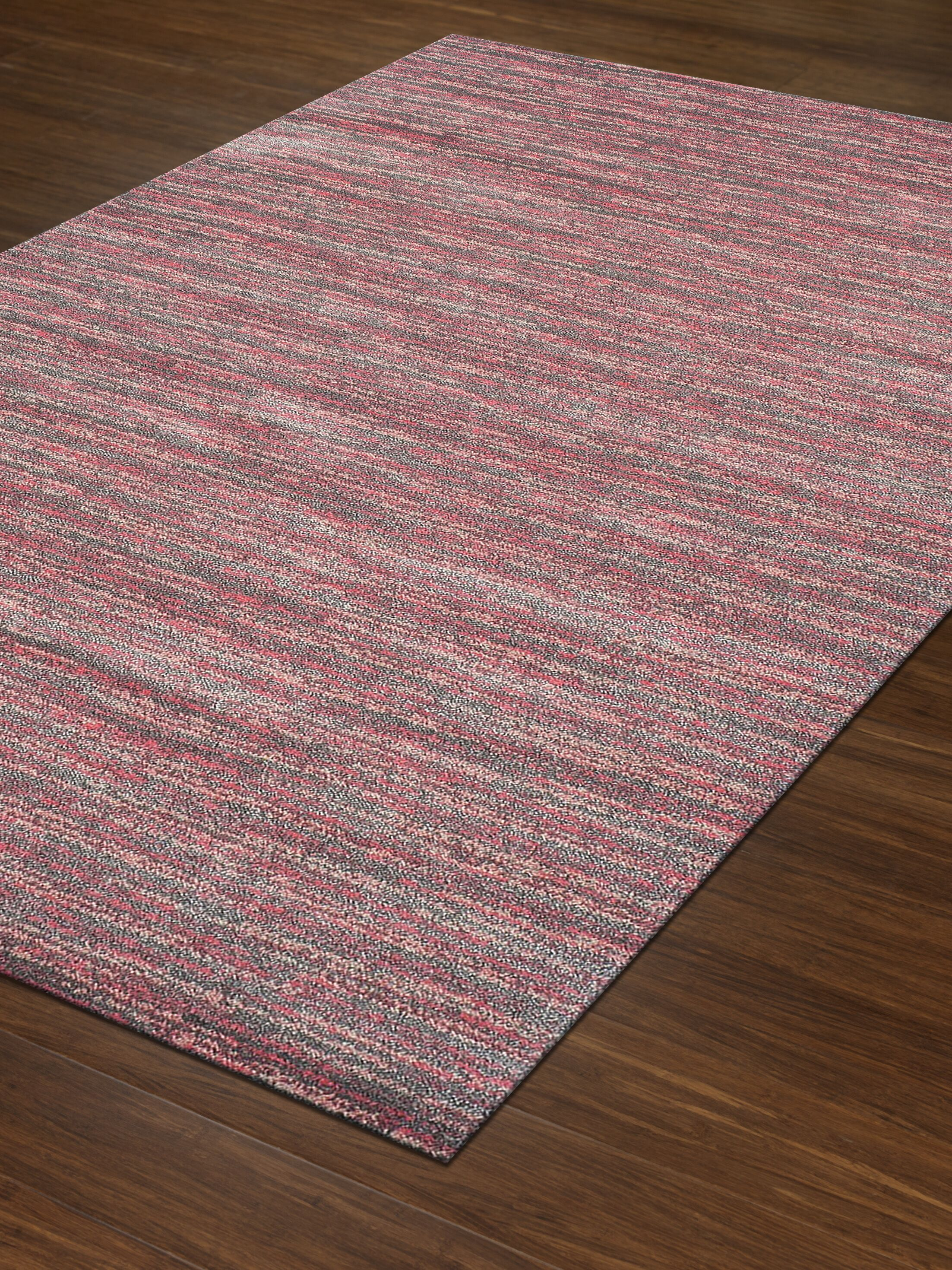 Borgo Pink Area Rug Rug Size: Rectangle 3'3