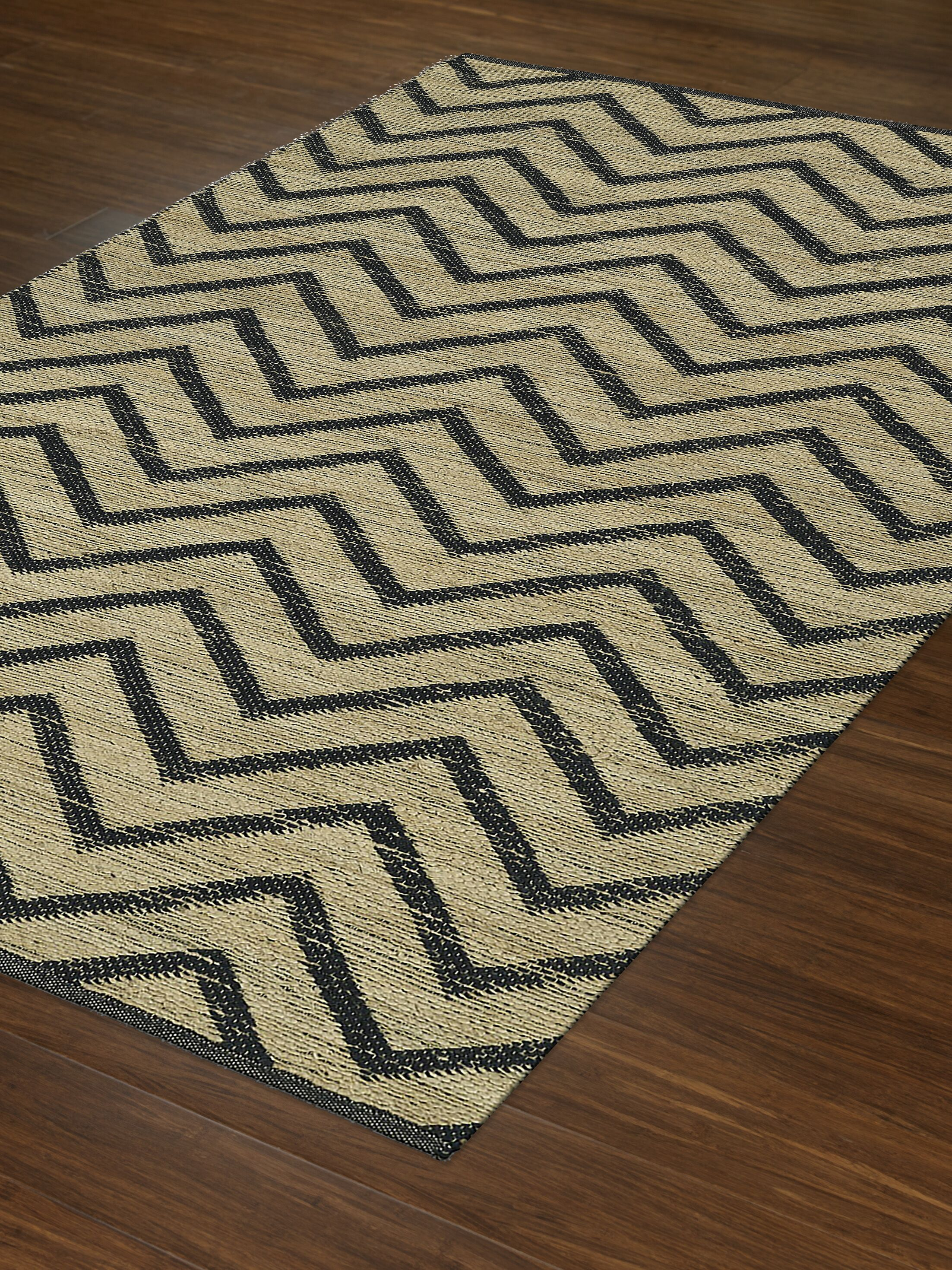 Santiago Dalyn Black Area Rug Rug Size: Rectangle 5' x 7'6