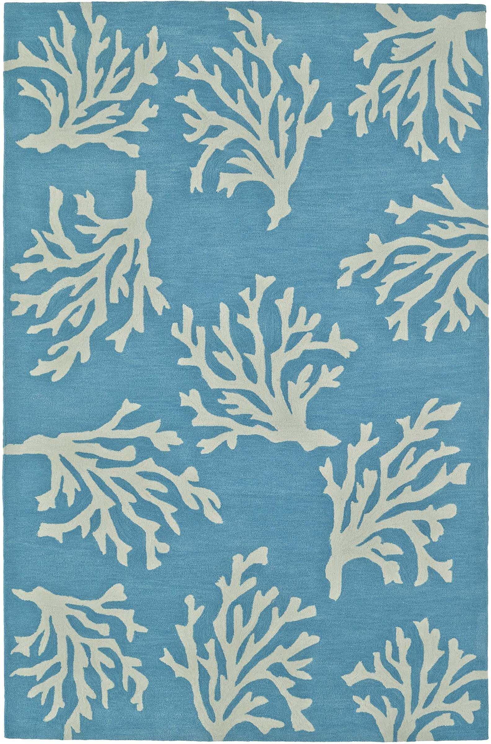 Bovina Hand-Tufted Sky Area Rug Rug Size: Rectangle 8' x 10'