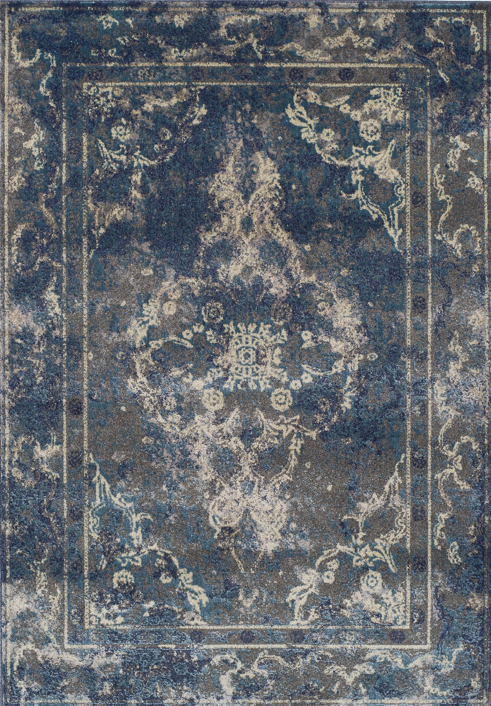 Lavita Pewter Area Rug Rug Size: Rectangle 3'3