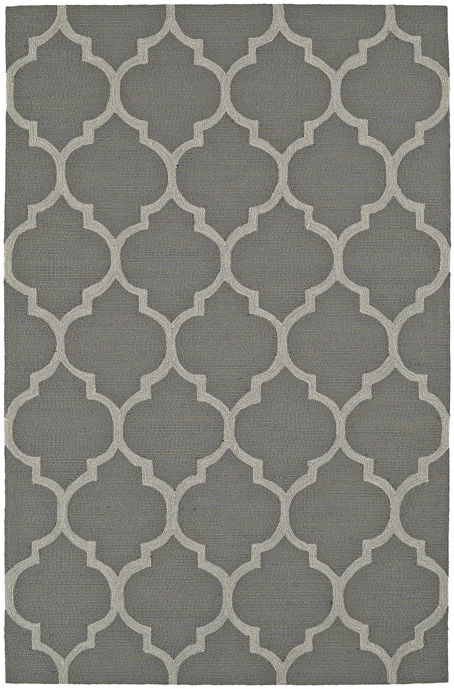 Cabana Hand-Tufted Pewter Indoor/Outdoor Area Rug Rug Size: Rectangle 5' x 7'6