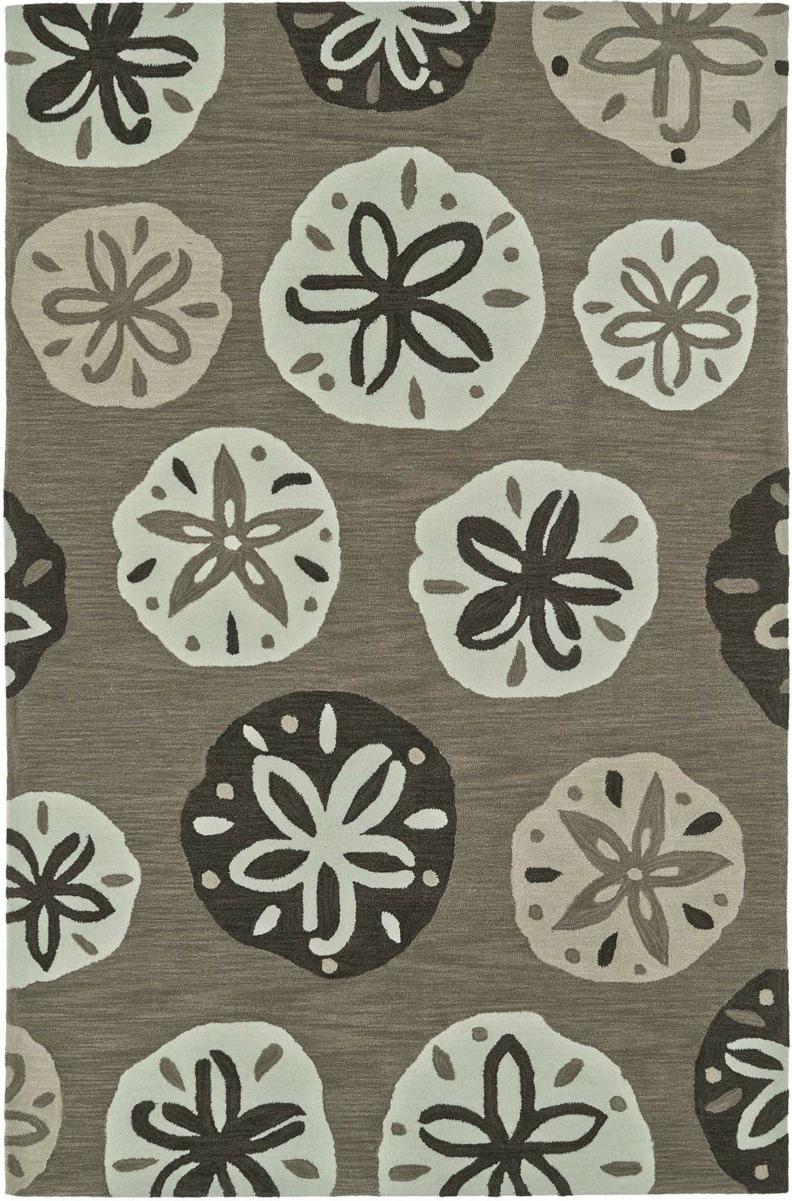 Bovina Hand-Tufted Khaki Area Rug Rug Size: Rectangle 8' x 10'