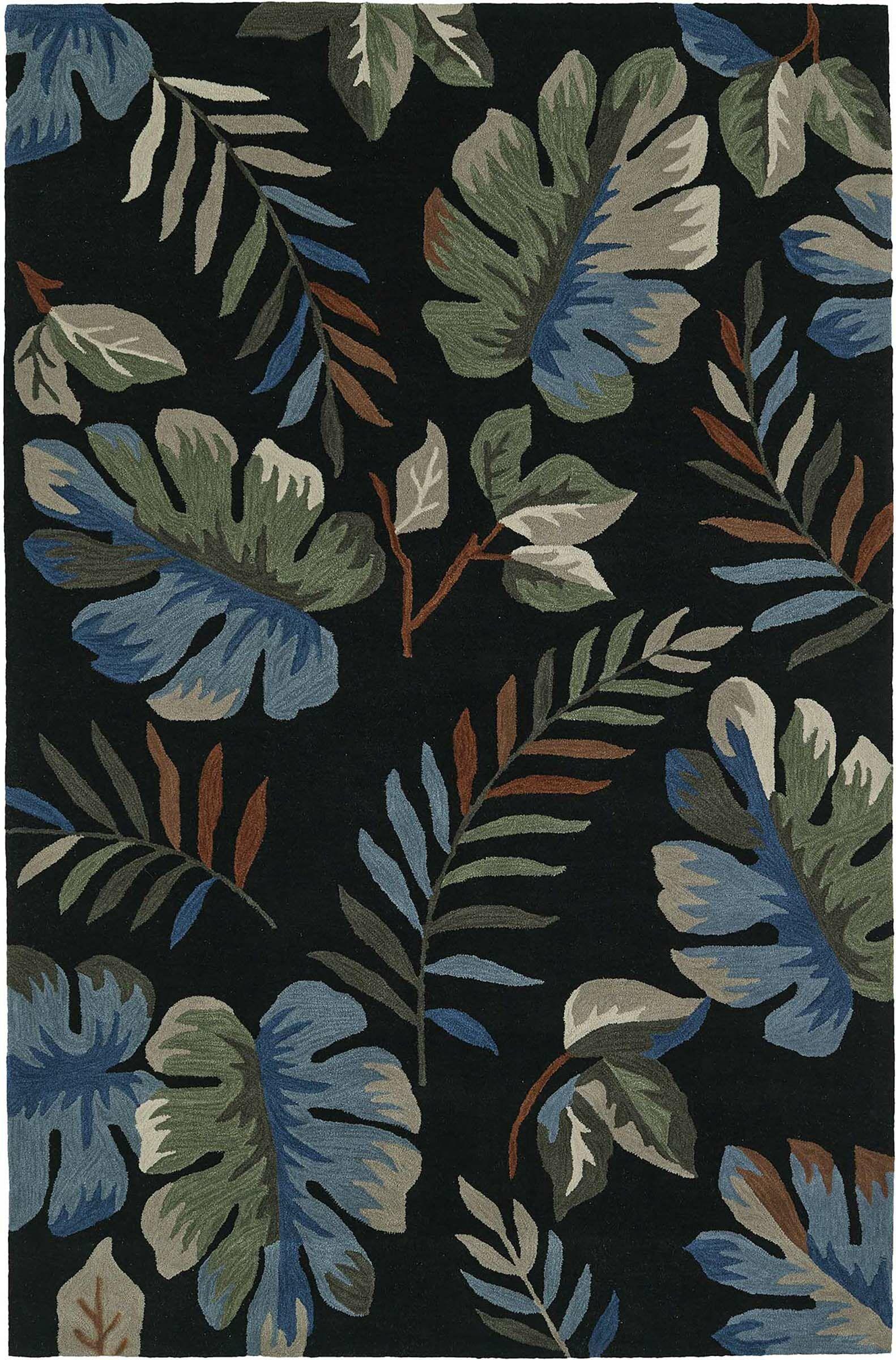 Maui Hand-Tufted Black Area Rug Rug Size: Rectangle 5' x 7'6