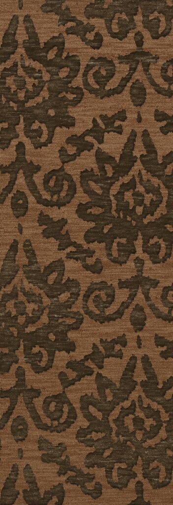Bella Machine Woven Wool Brown Area Rug Rug Size: Runner 2'6