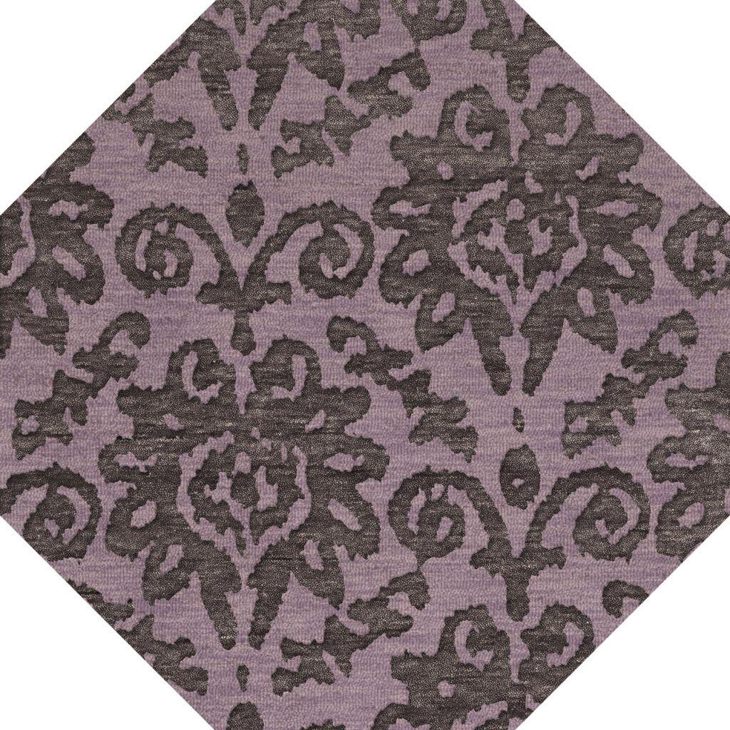 Bella Purple Area Rug Rug Size: Octagon 8'