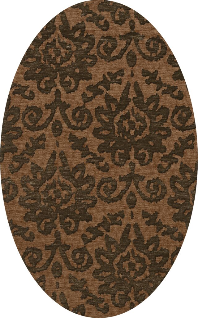 Bella Machine Woven Wool Brown Area Rug Rug Size: Oval 12' x 18'