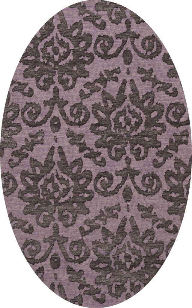 Bella Purple Area Rug Rug Size: Oval 8' x 10'