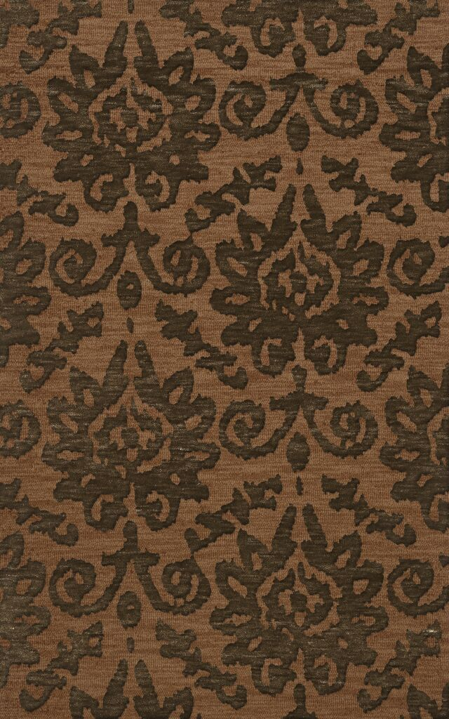 Bella Machine Woven Wool Brown Area Rug Rug Size: Rectangle 12' x 18'