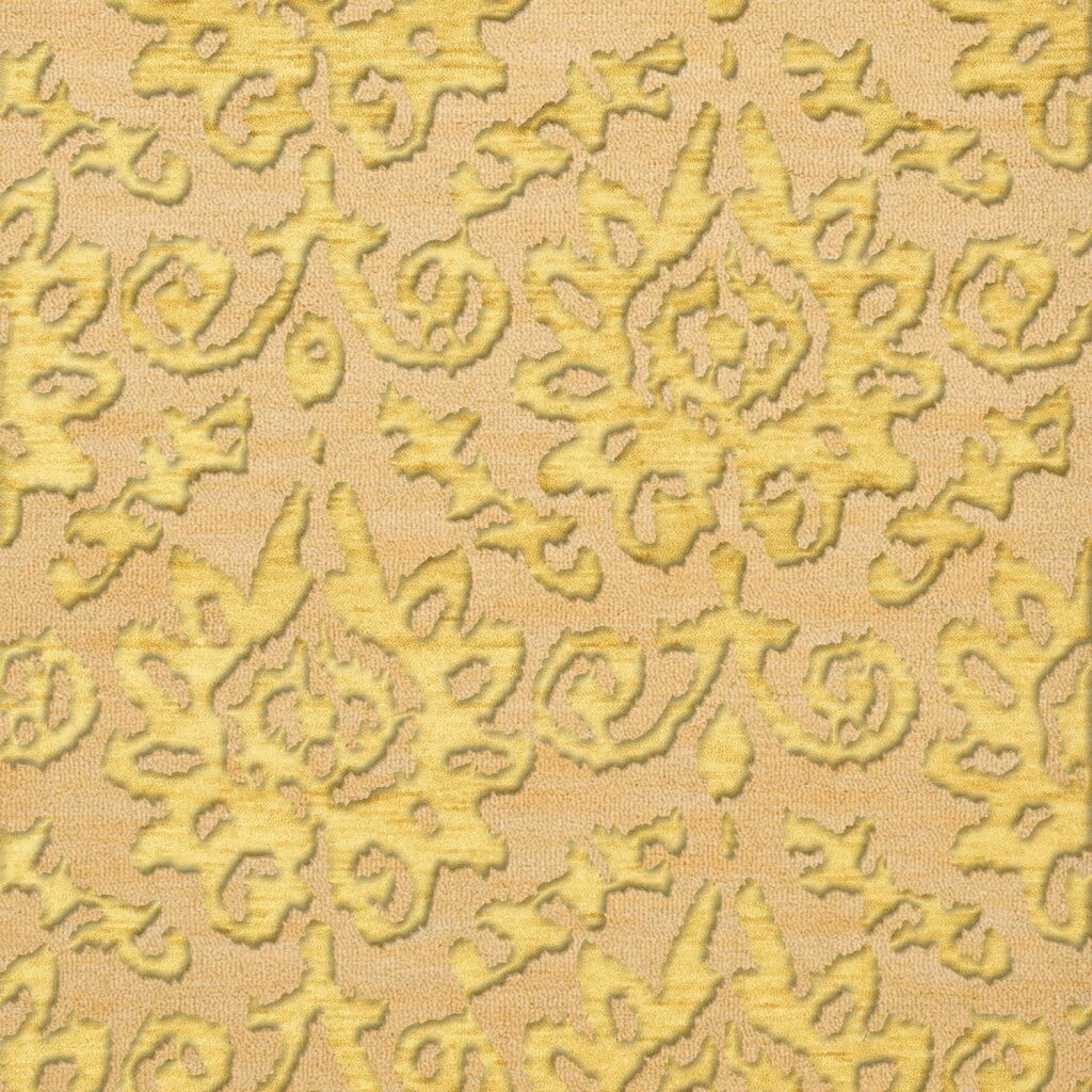 Bella Machine Woven Wool Beige/Yellow Area Rug Rug Size: Square 8'