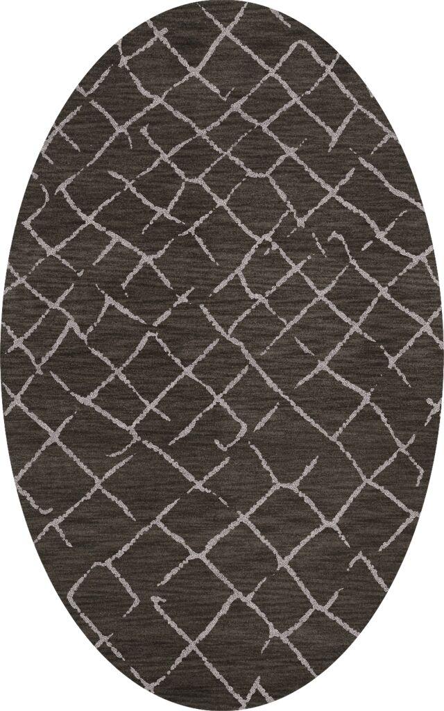 Bella Machine Woven Wool Gray Area Rug Rug Size: Oval 3' x 5'