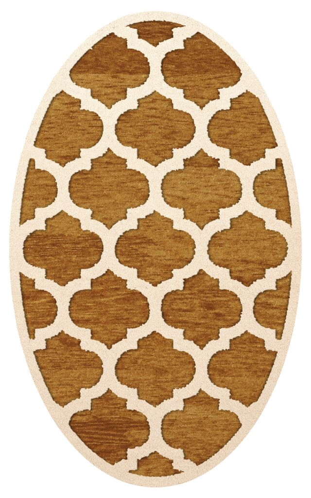 Bella Orange Area Rug Rug Size: Oval 9' x 12'