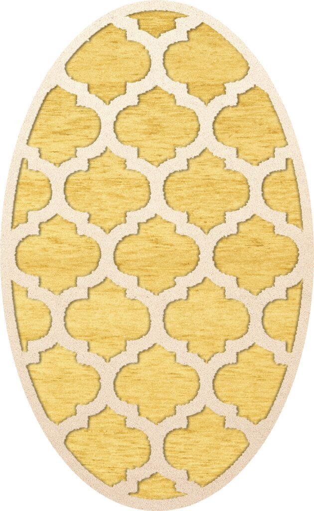 Bella Machine Woven Wool Yellow Area Rug Rug Size: Oval 12' x 15'