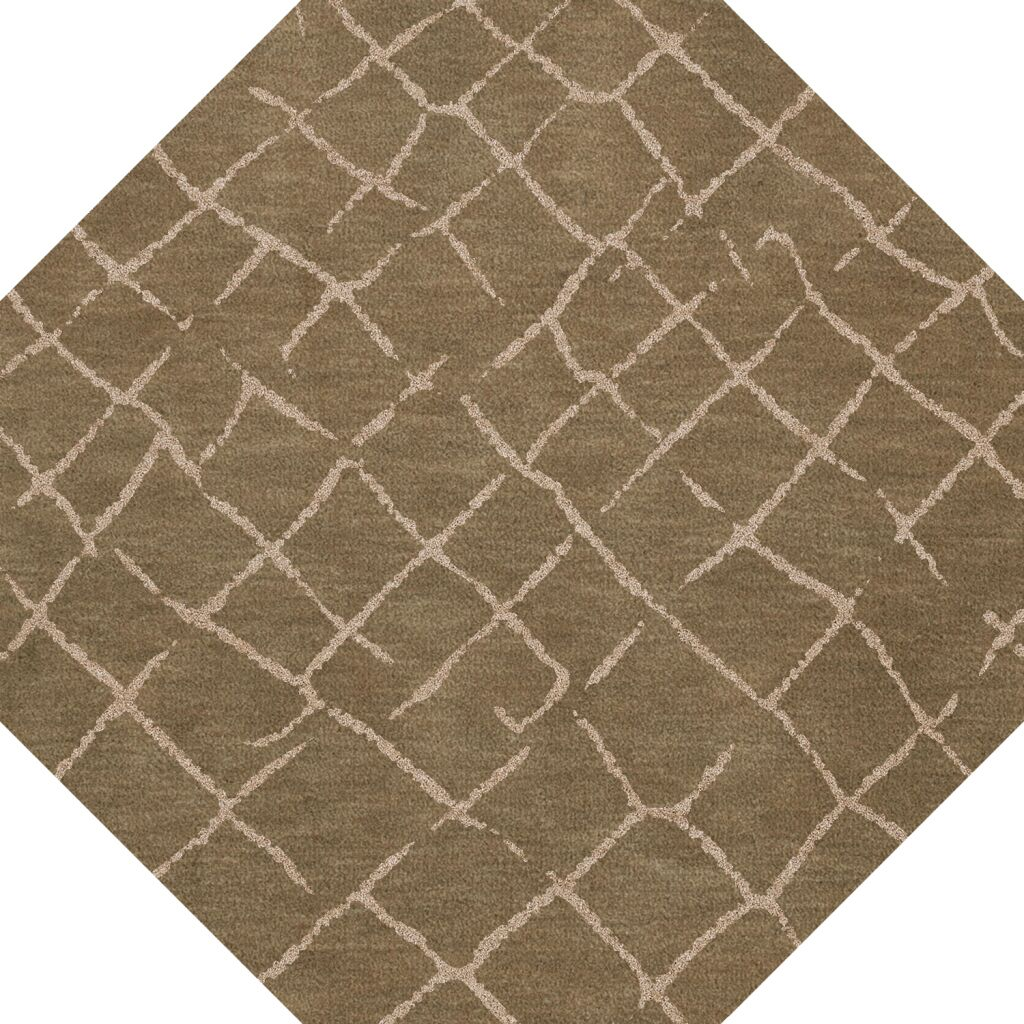 Bella Machine Woven Wool Brown Area Rug Rug Size: Octagon 4'