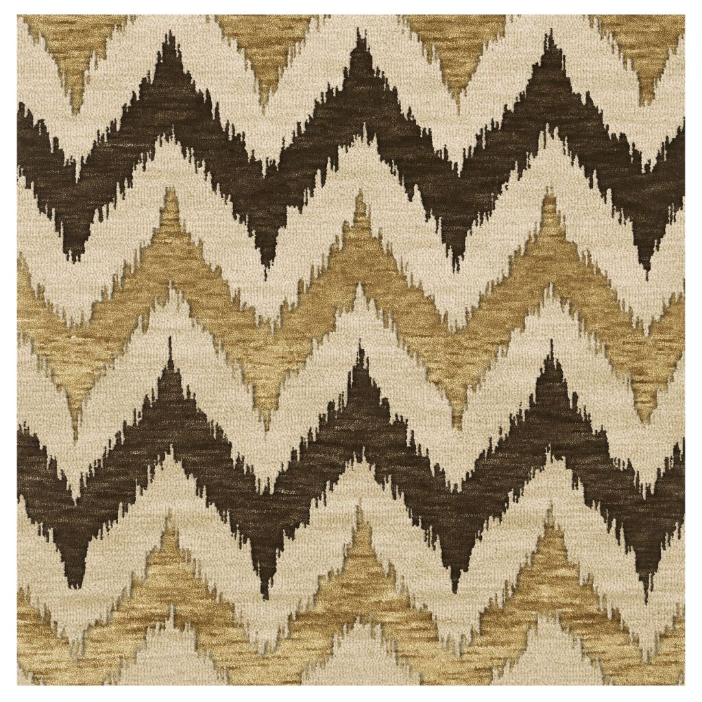 Bella Machine Woven Wool Brown Area Rug Rug Size: Rectangle 4' x 6'